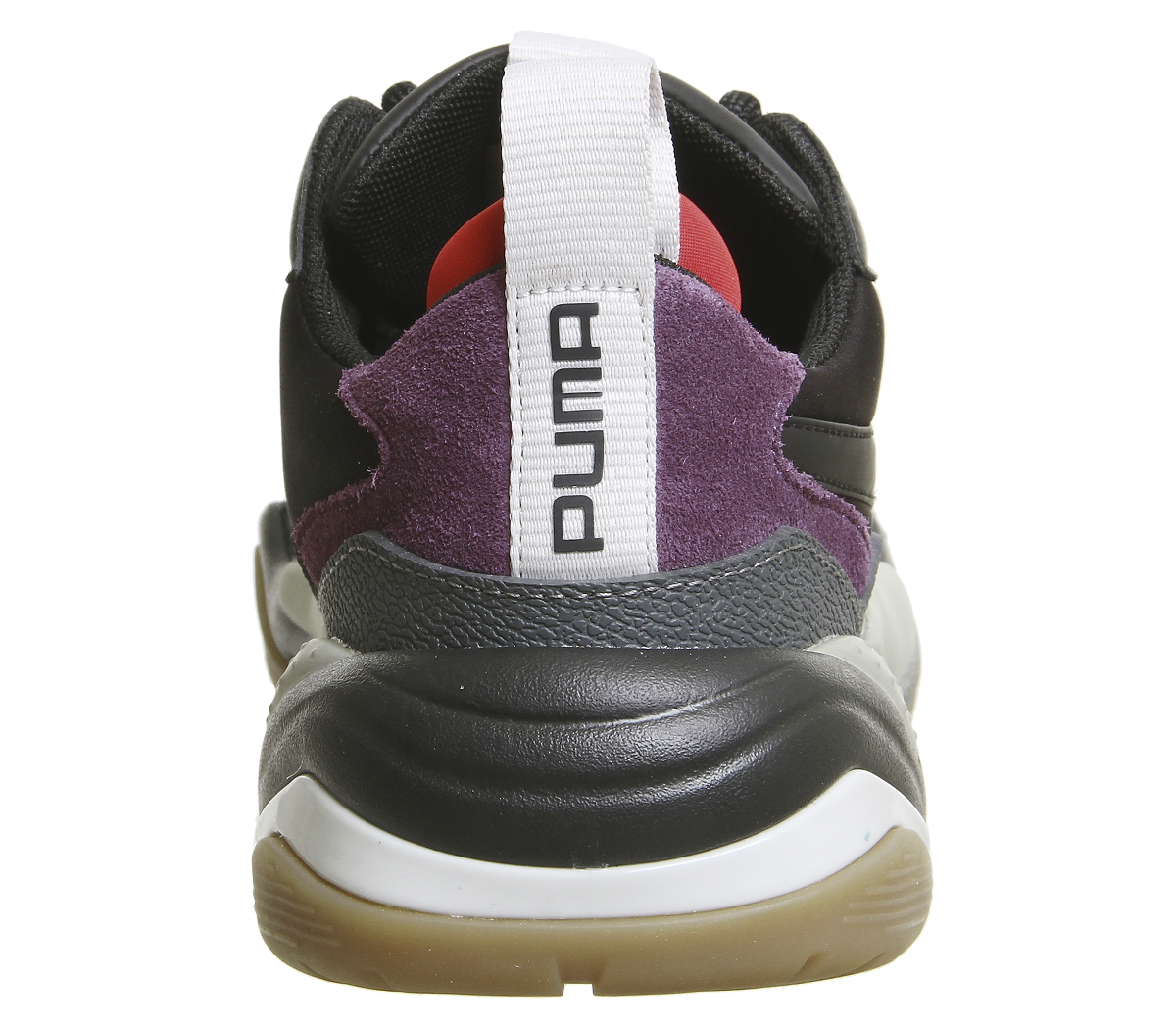 Details about Mens Puma Thunder Spectra Trainers Black Grey Purple Gum  Trainers Shoes