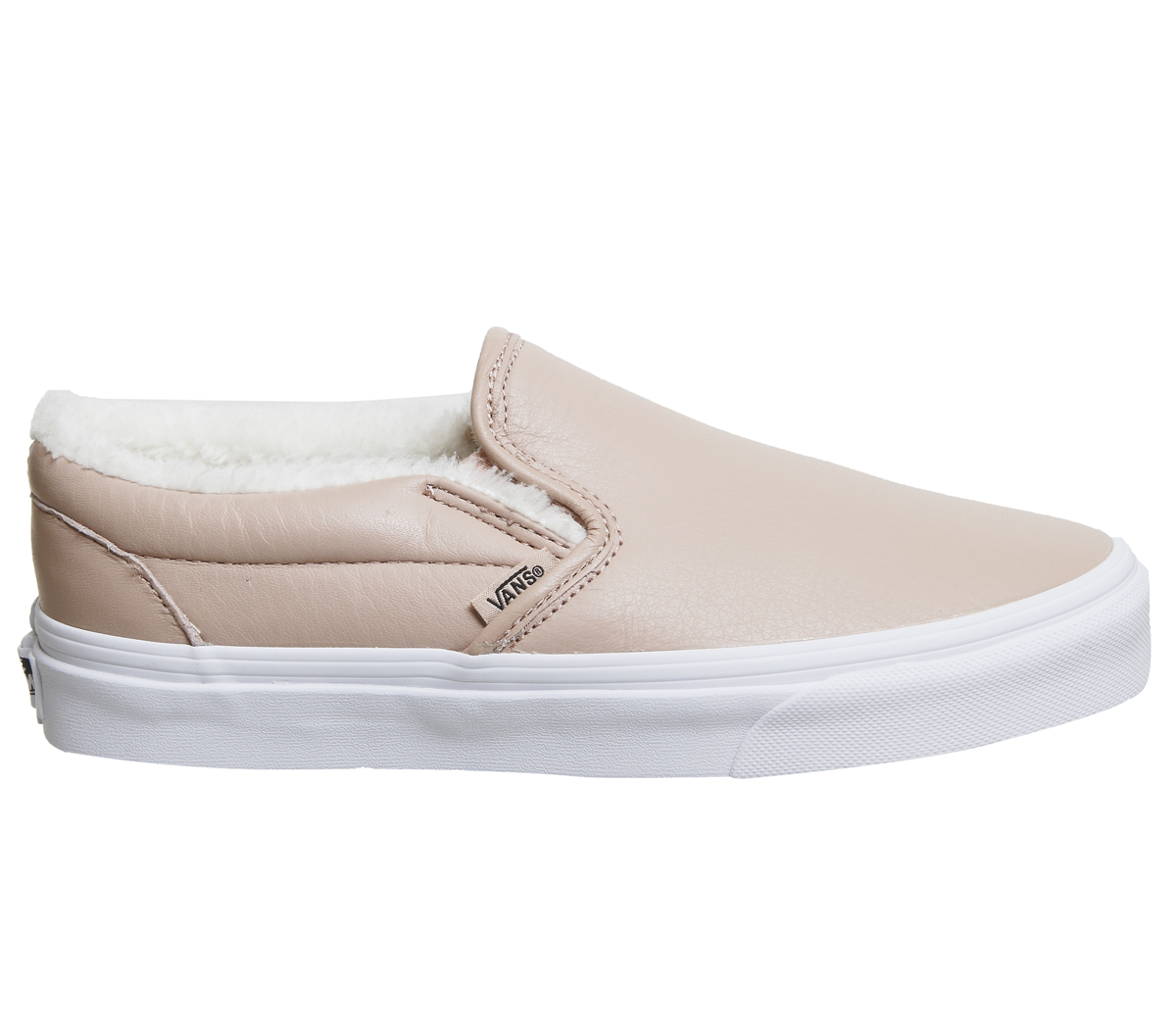 af618189eef Sentinel Womens Vans Vans Classic Slip On MAHOGANY ROSE TRUE WHITE  SHEARLING Trainers Sho