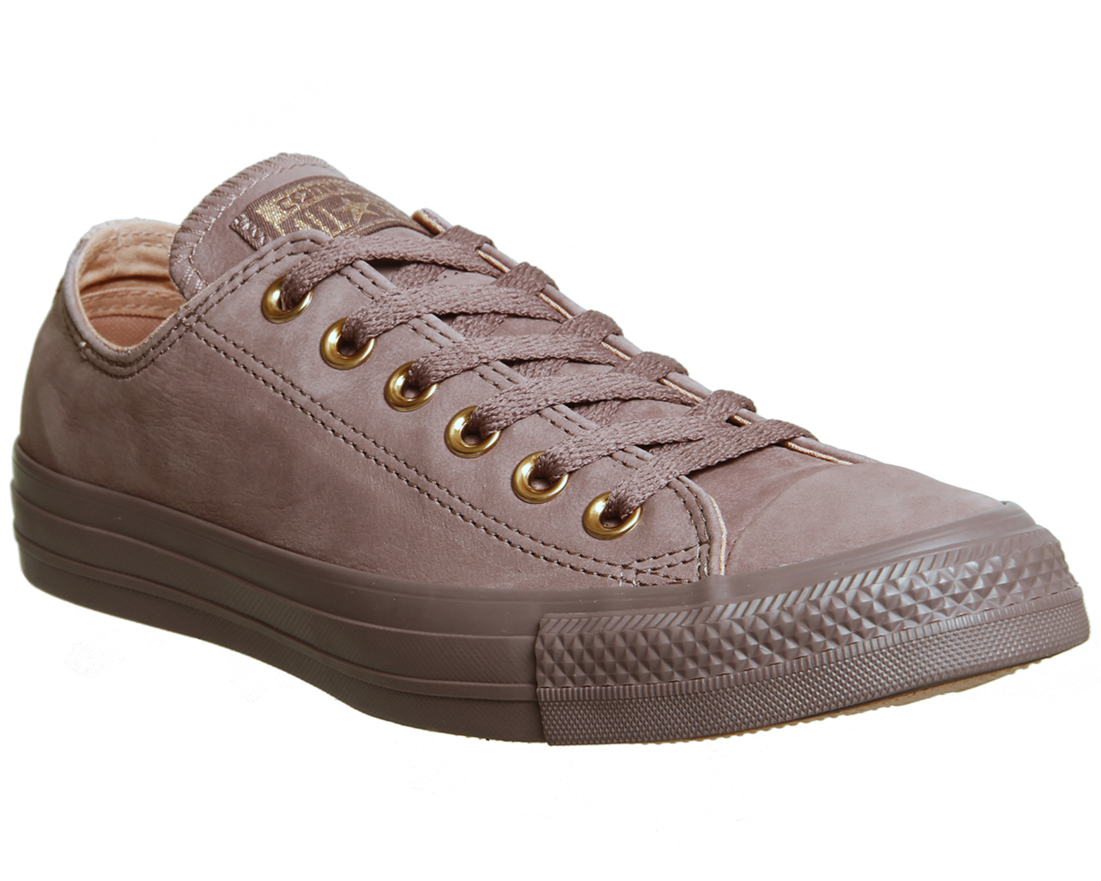 457e17e889a311 Sentinel Womens Converse All Star Low Leather Saddle Pale Coral Trainers  Shoes