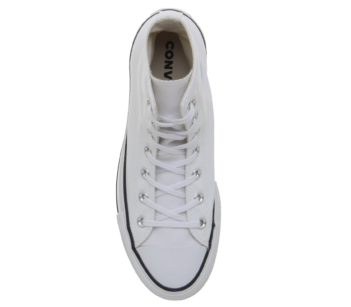 Womens Converse All Star Lift Trainers Hi Trainers Lift WHITE BLACK WHITE Trainers Shoes 4d1284