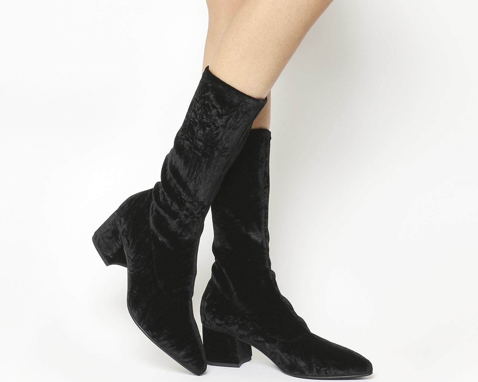 2fc444c446cd Sentinel Thumbnail 1. Sentinel Womens Vagabond Mya Tall Boots Black Velvet  Boots