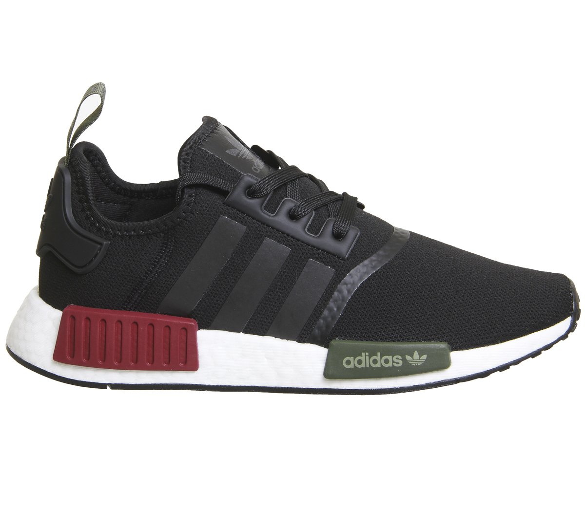 1178eed0b Sentinel Adidas Nmd R1 Trainers Black Burgundy Olive Exclusive Trainers  Shoes