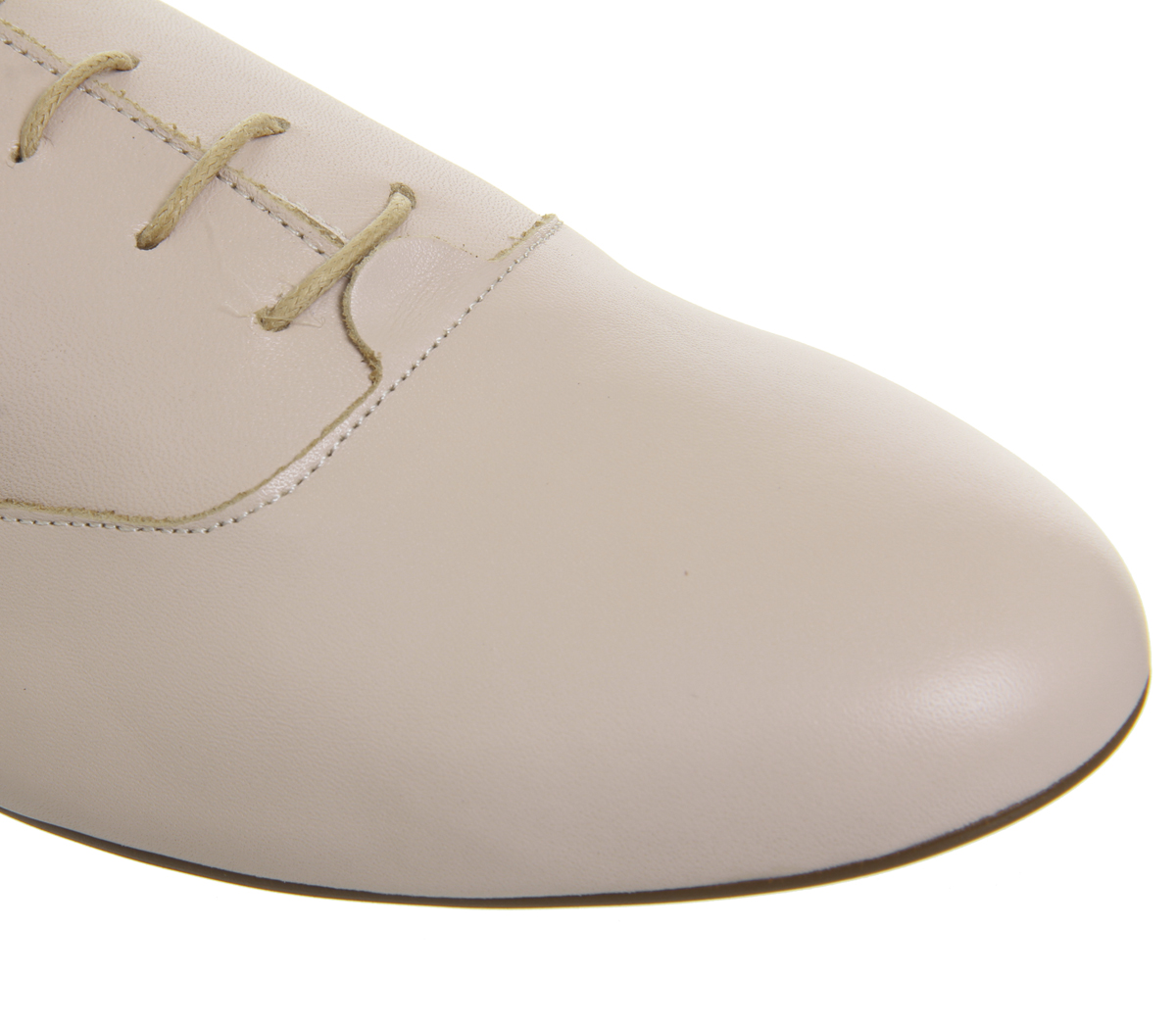 Womens Up Office Fatal Softy Lace Up Womens Flats NUDE LEATHER Flats 1e9cfc