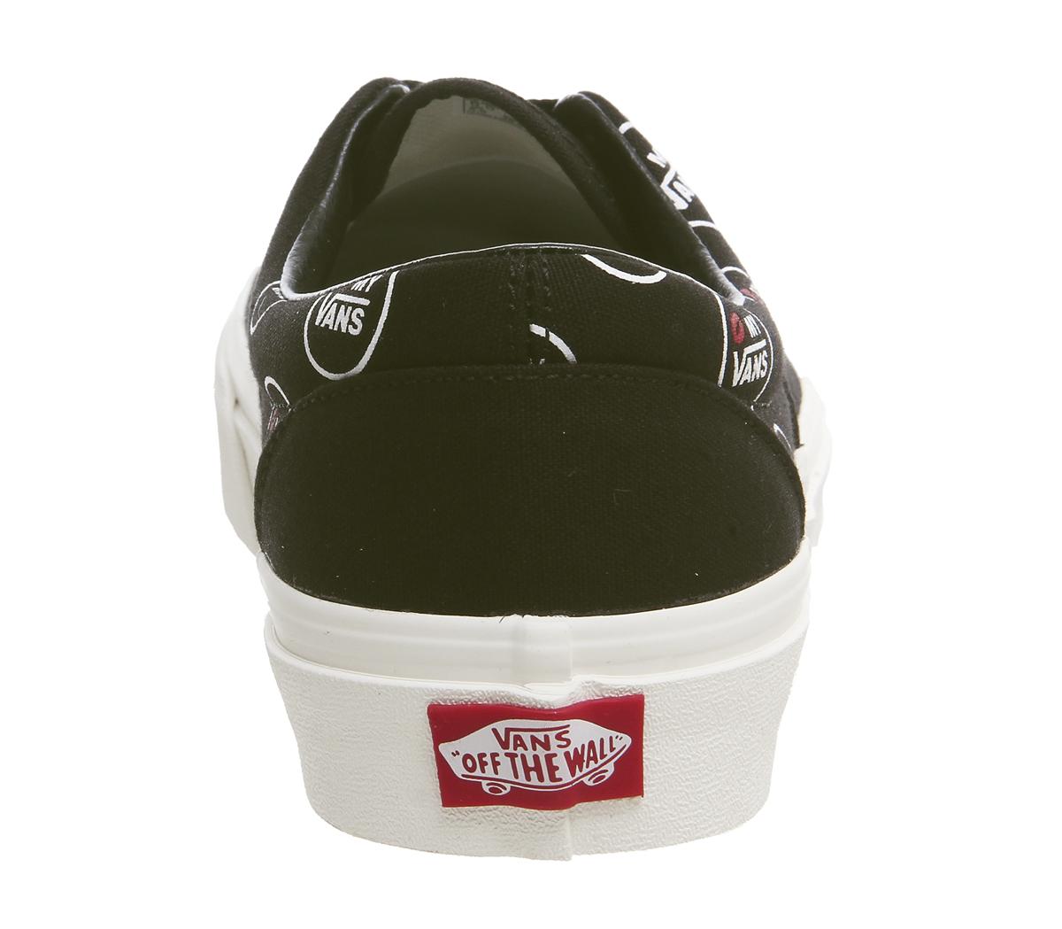 KMV Uomo Vans Era Trainers KMV  BLACK MARSHMELLOW Trainers Schuhes 1b11aa