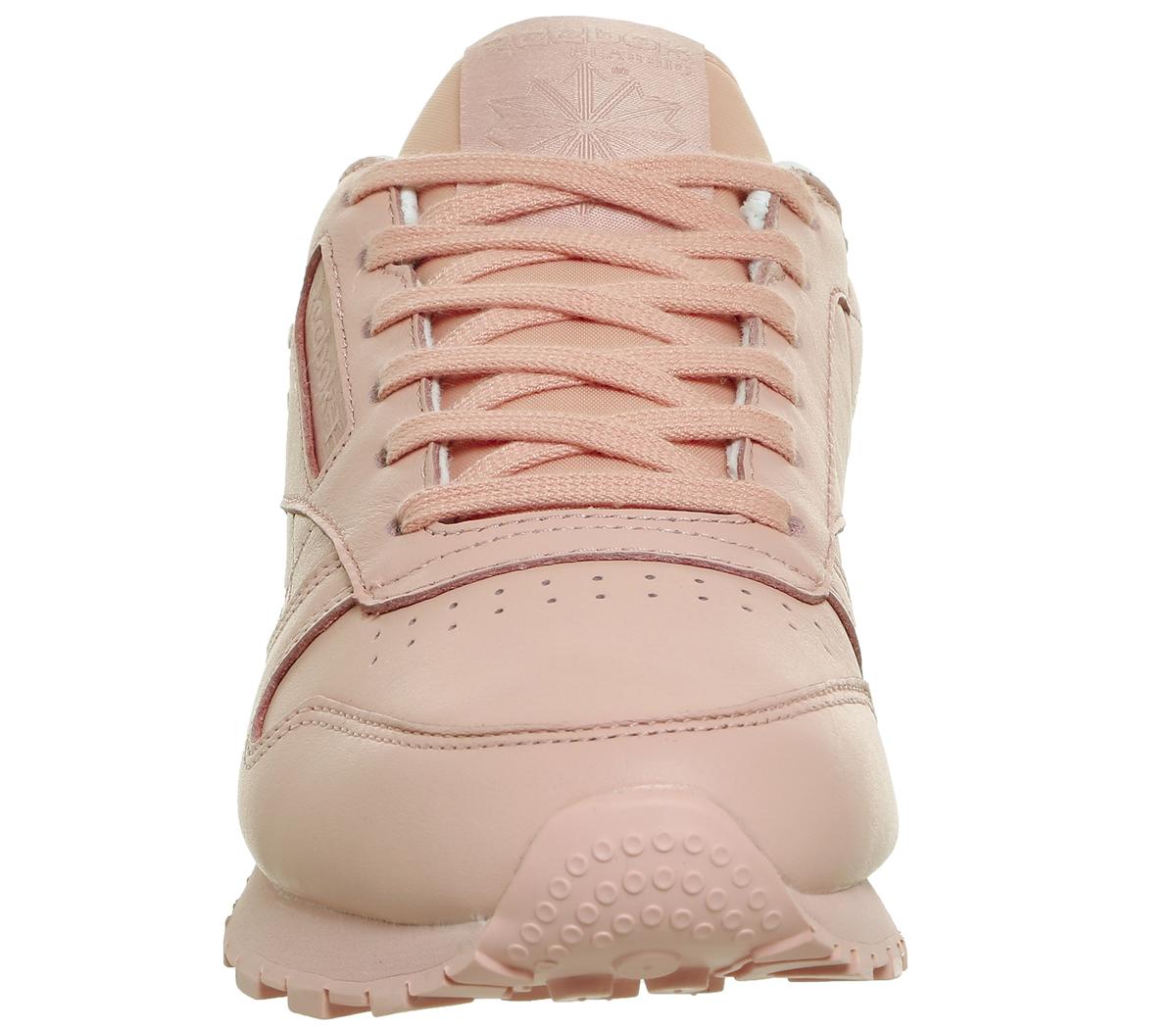 Da-Donna-Reebok-CL-Leather-Scarpe-da-ginnastica-rosa-patina