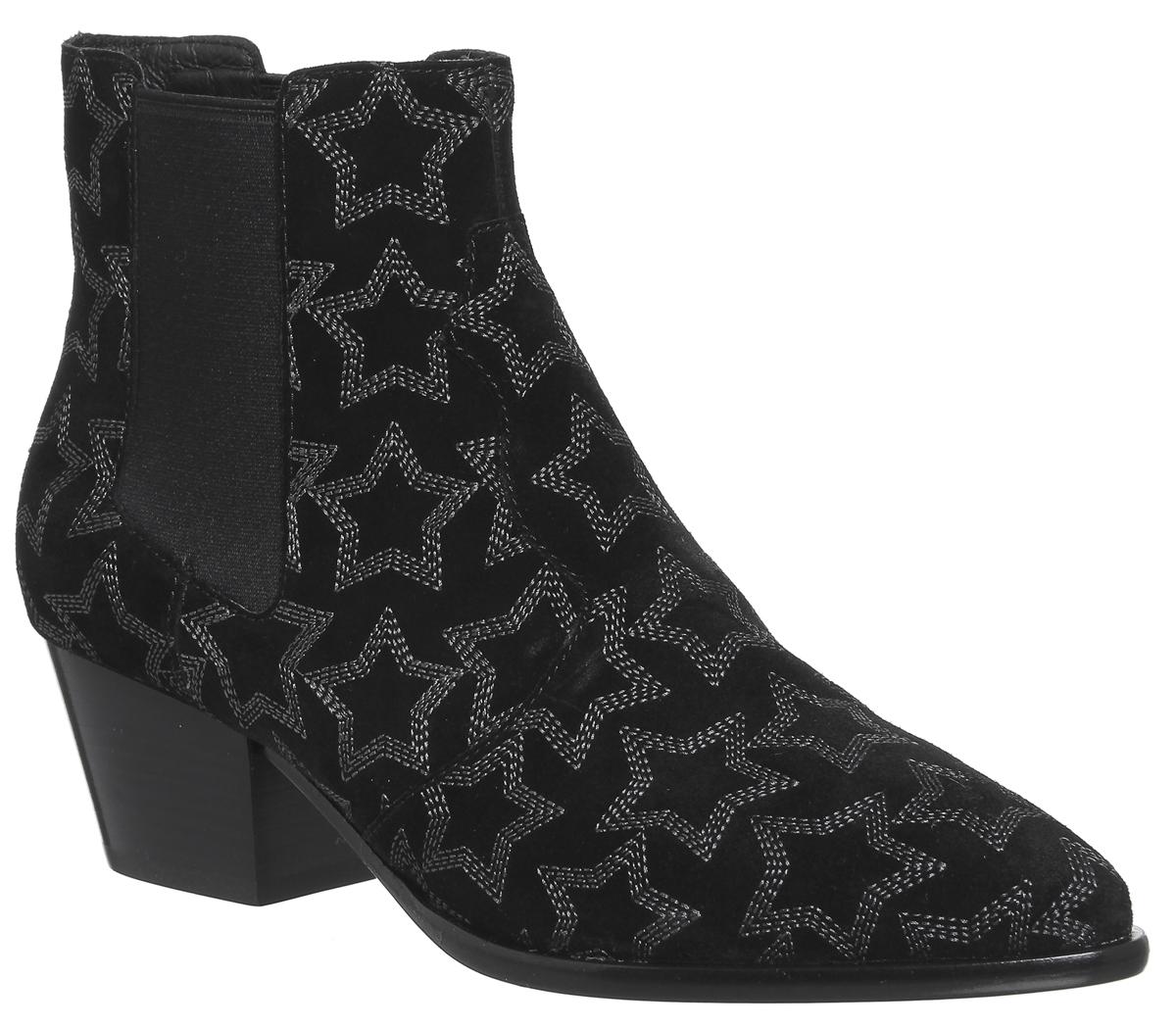 Cómodo y bien parecido Mujer Ash Hope Estrella de Ankle Boots Black Botas de Estrella Ante 7a4573