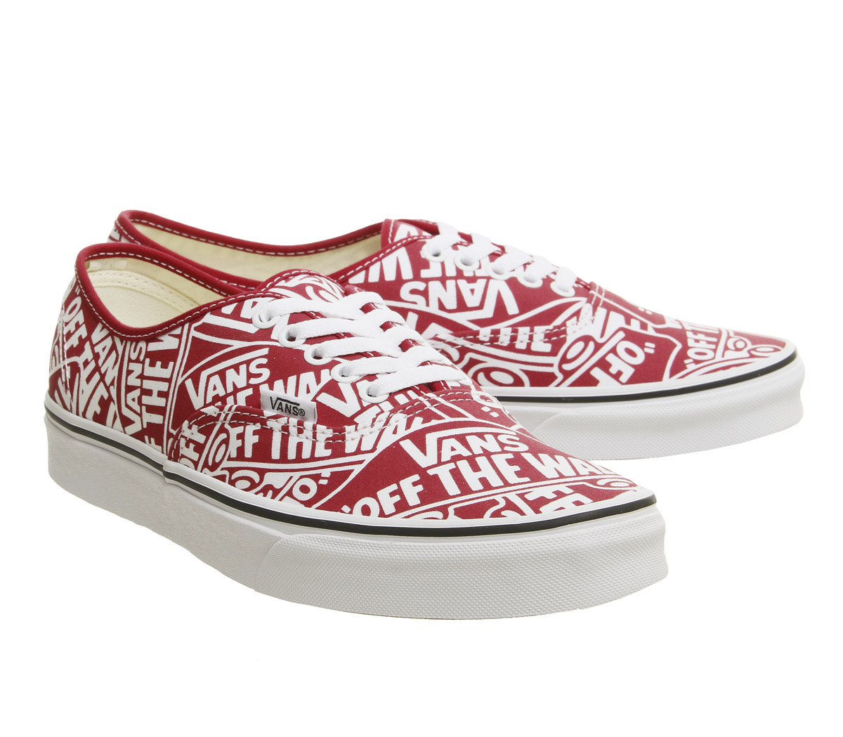 2ca684dc1d Sentinel Thumbnail 7. Sentinel Vans Authentic Trainers Red True White  Repeat Otw Trainers Shoes. Sentinel Thumbnail 8