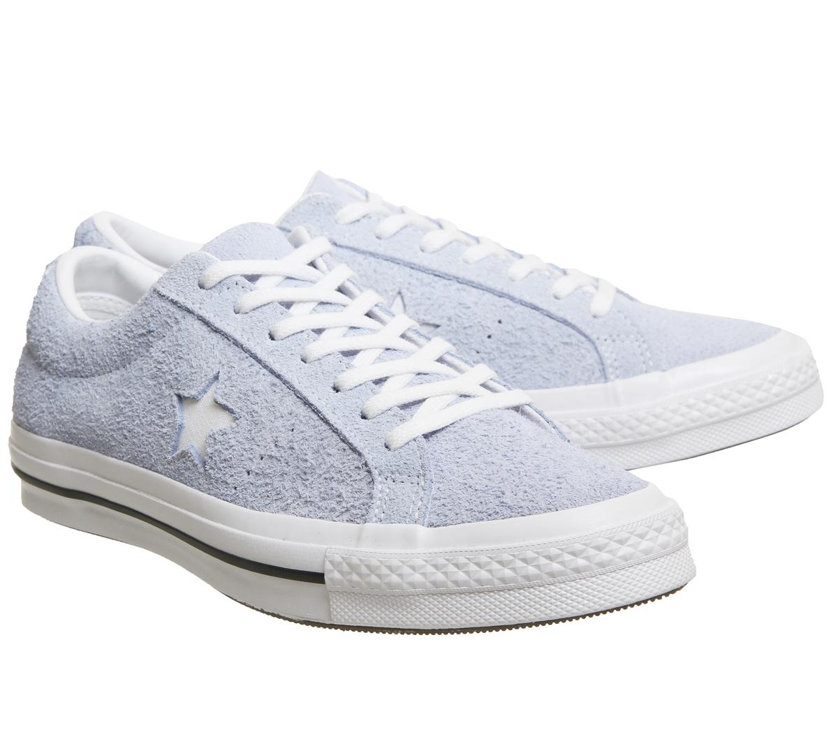 Womens Converse One Star Trainers BLUE CHILL WHITE Trainers Shoes  047e7e9e6