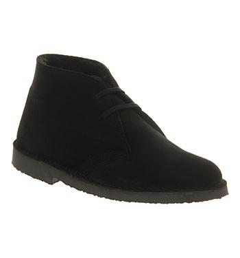 Womens-Office-Uphill-Desert-Boots-BLACK-SUEDE-FUR-