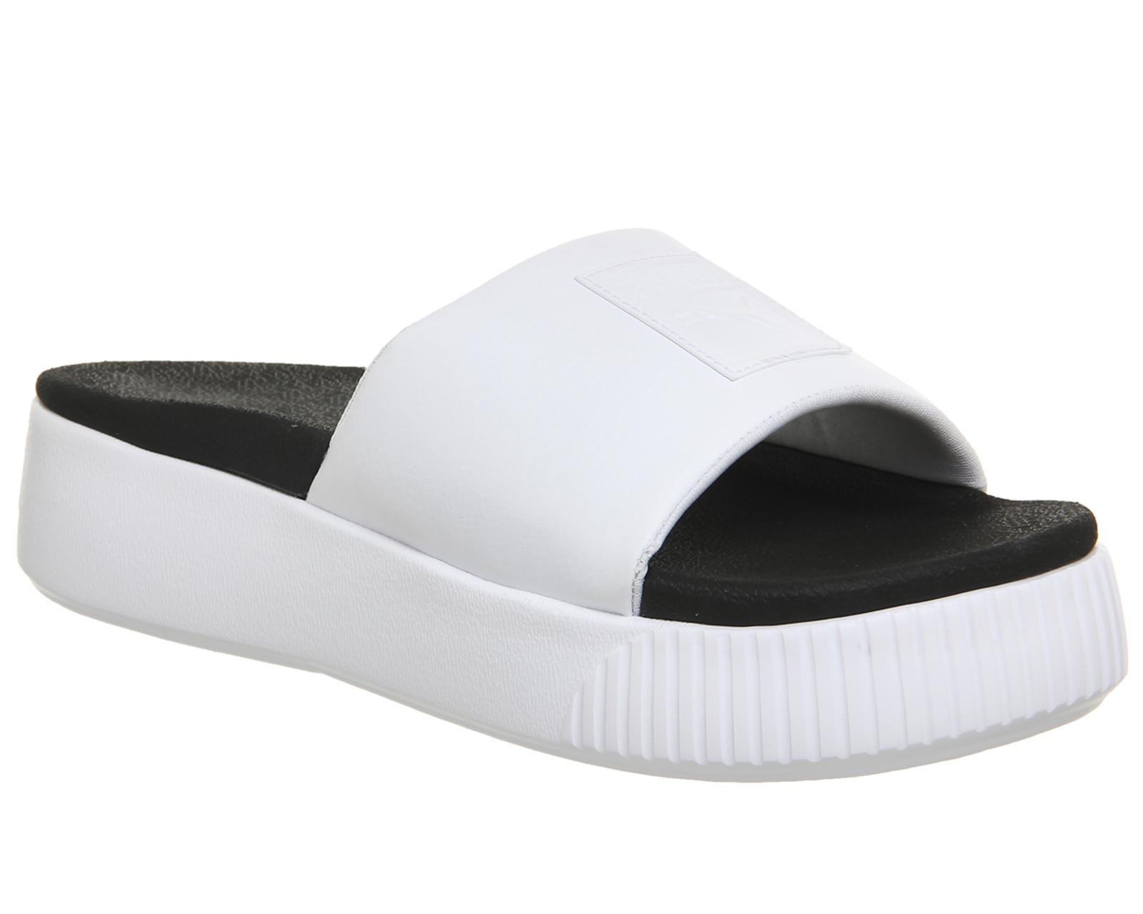 a3c6226c7204 Sentinel Womens Puma Platform Slides Puma White Puma Black Sandals
