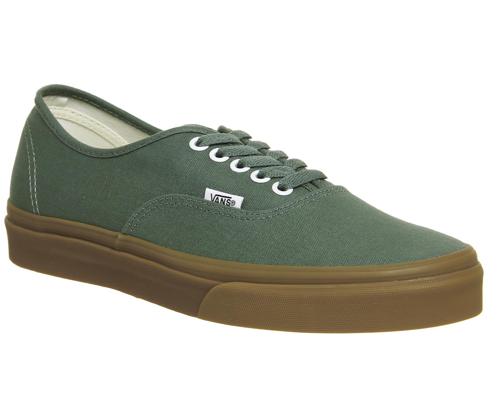 c6fa79499 Detalles de Para Hombre Vans Auténtico tenis Pato Verde Tenis Zapatos- ver  título original