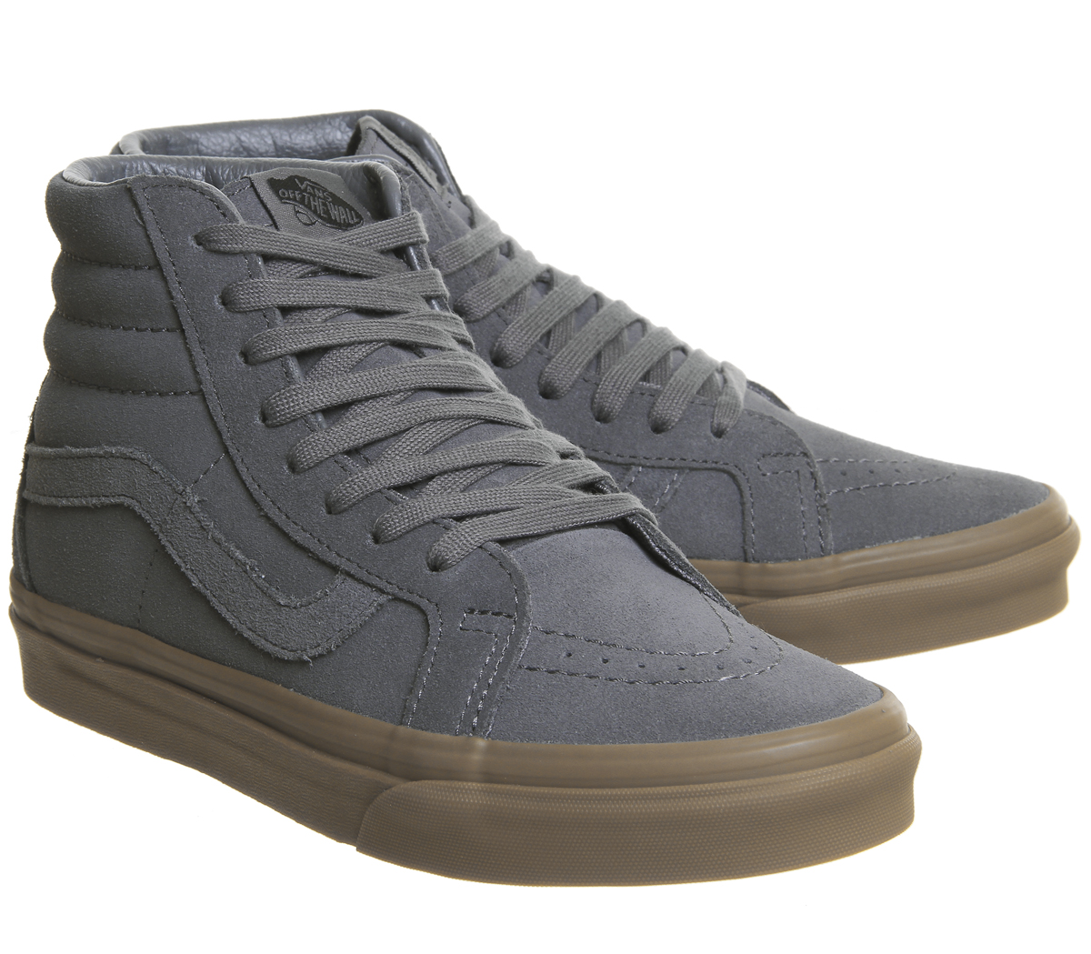 d4aeadc5b0 Mens Vans Sk8 Hi Trainers Grey Suede Gum Exclusive Trainers Shoes
