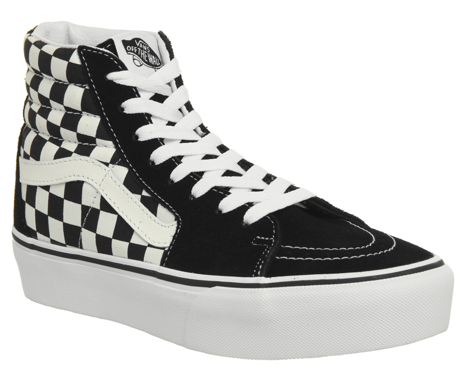 df8424bd82 Sentinel Womens Vans Sk8 Hi Platform 2.0 Trainers Black White Checkerboard  Trainers Shoes