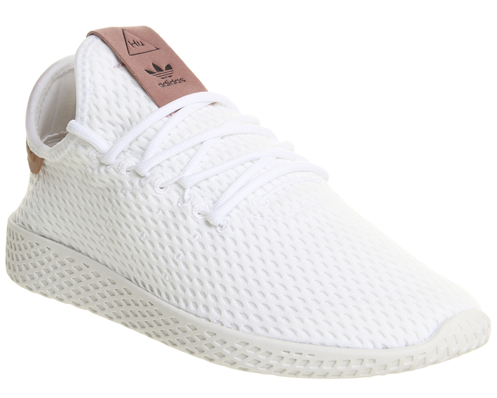 Sentinel Womens Adidas Pw Tennis Hu WHITE RAW PINK Trainers Shoes e0fd803d9