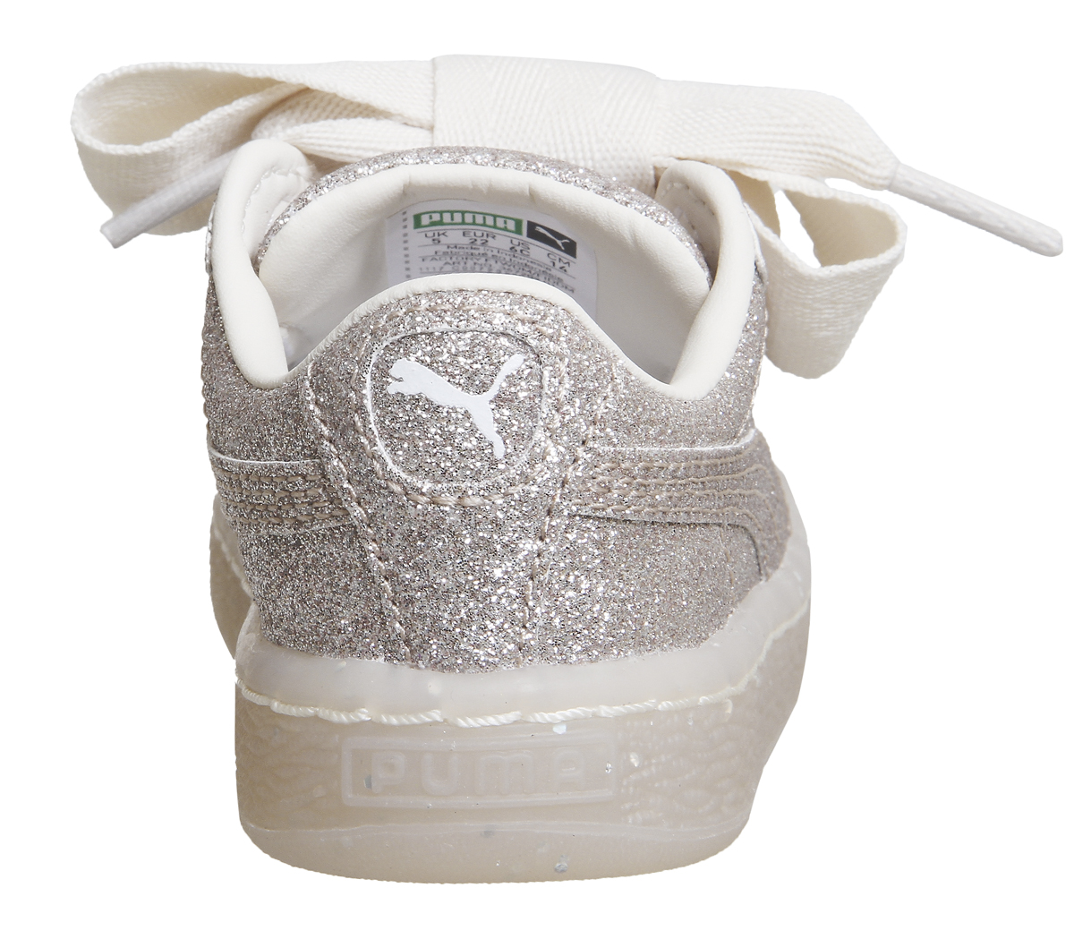 431c06acf61c Sentinel Kids Puma Basket Heart Inf Eggnog Glitter Exclusive Kids