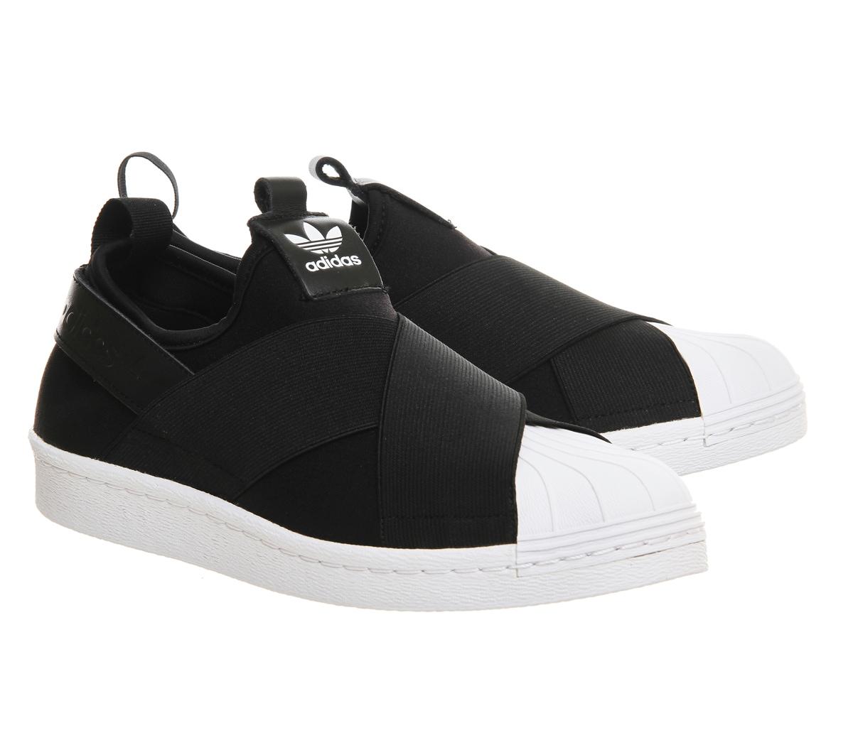 adidas superstar slip on schwarz