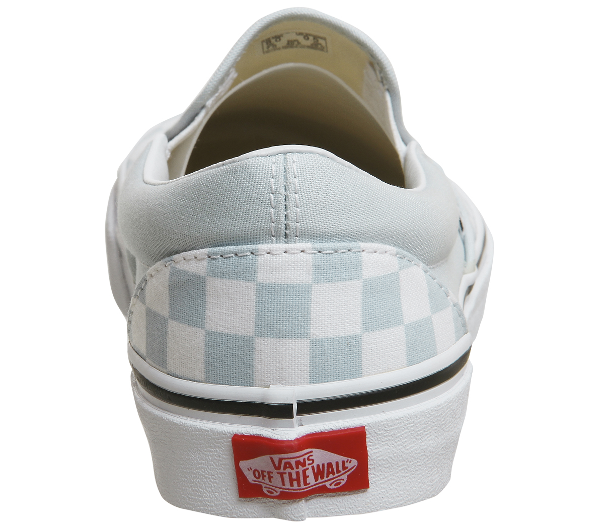 46c7e61d3cdc8a Sentinel Womens Vans Vans Classic Slip On Trainers BABY BLUE WHITE  CHECKERBOARD Trainers