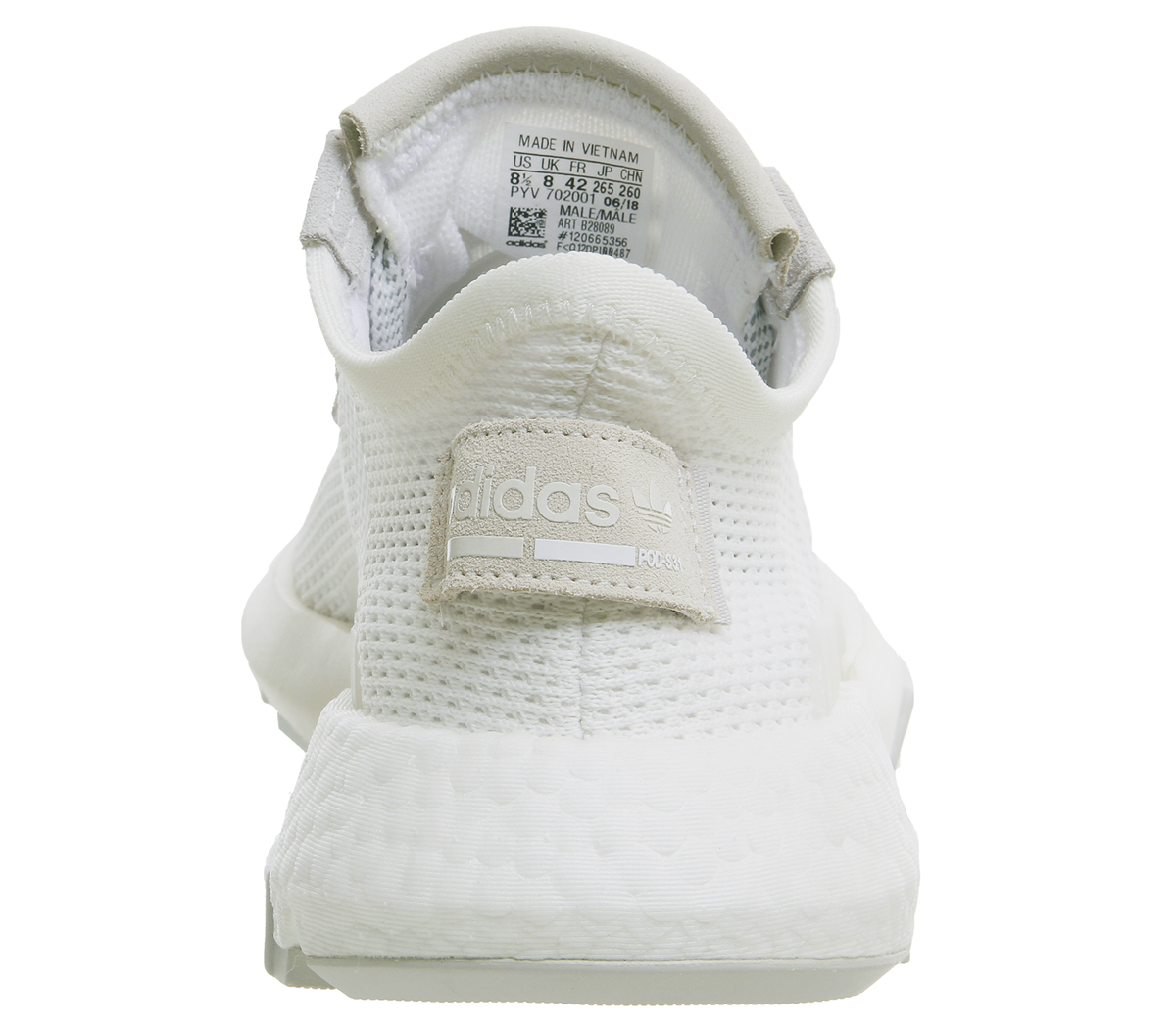 4ac99fcd587ae Sentinel Adidas Pod S3.1 Trainers White White Grey Trainers Shoes