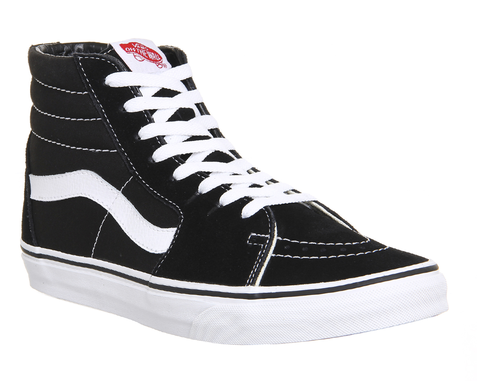 204c405bf7 Sentinel Womens Vans Sk8 Hi Black White Canvas Trainers Shoes