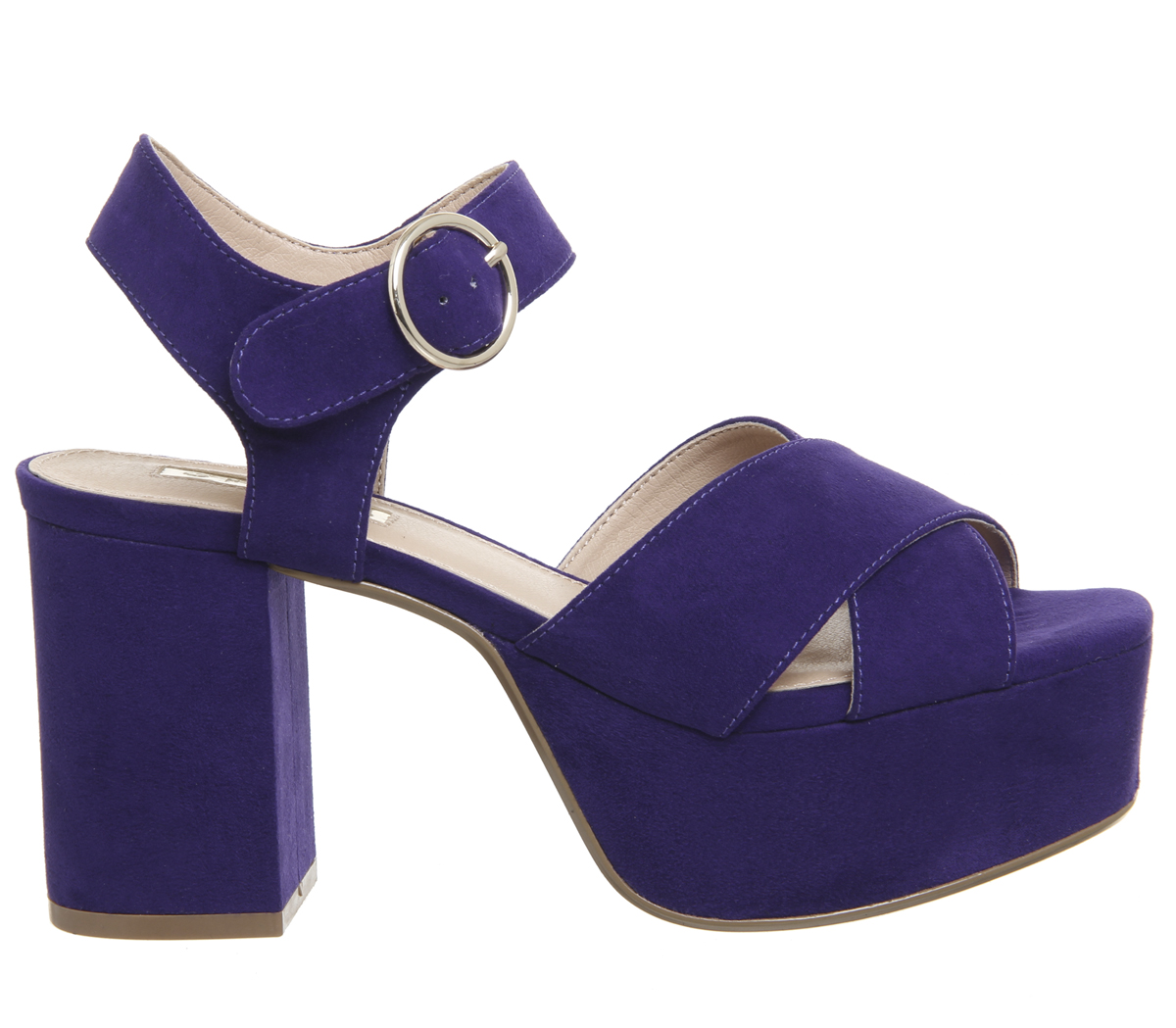 Damenschuhe PURPLE Office Macaroni Heavy Chunky Platforms PURPLE Damenschuhe Heels 97eea5