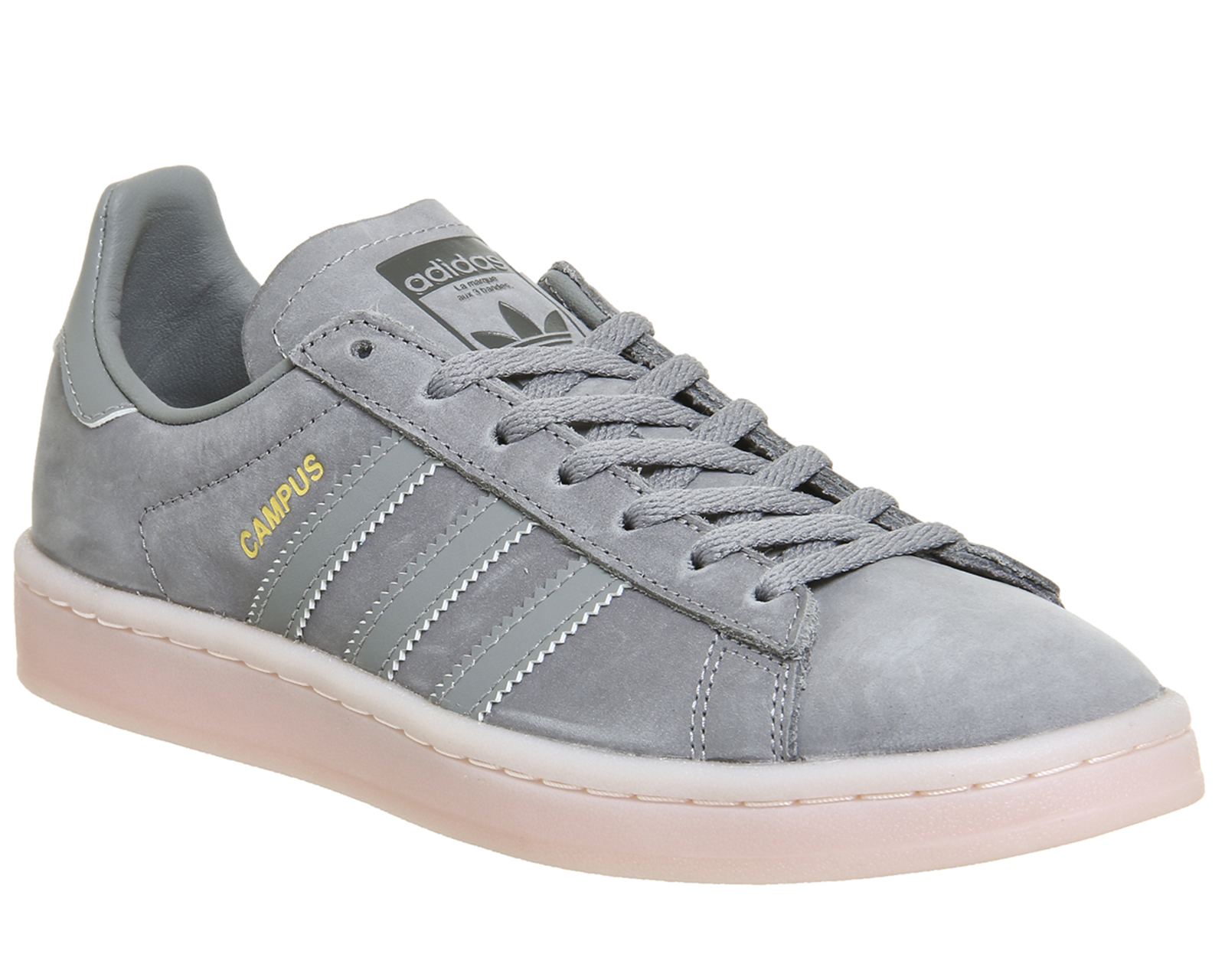 863f6d6d075370 Sentinel Womens Adidas Campus Trainers GREY THREE ICEY PINK Trainers Shoes