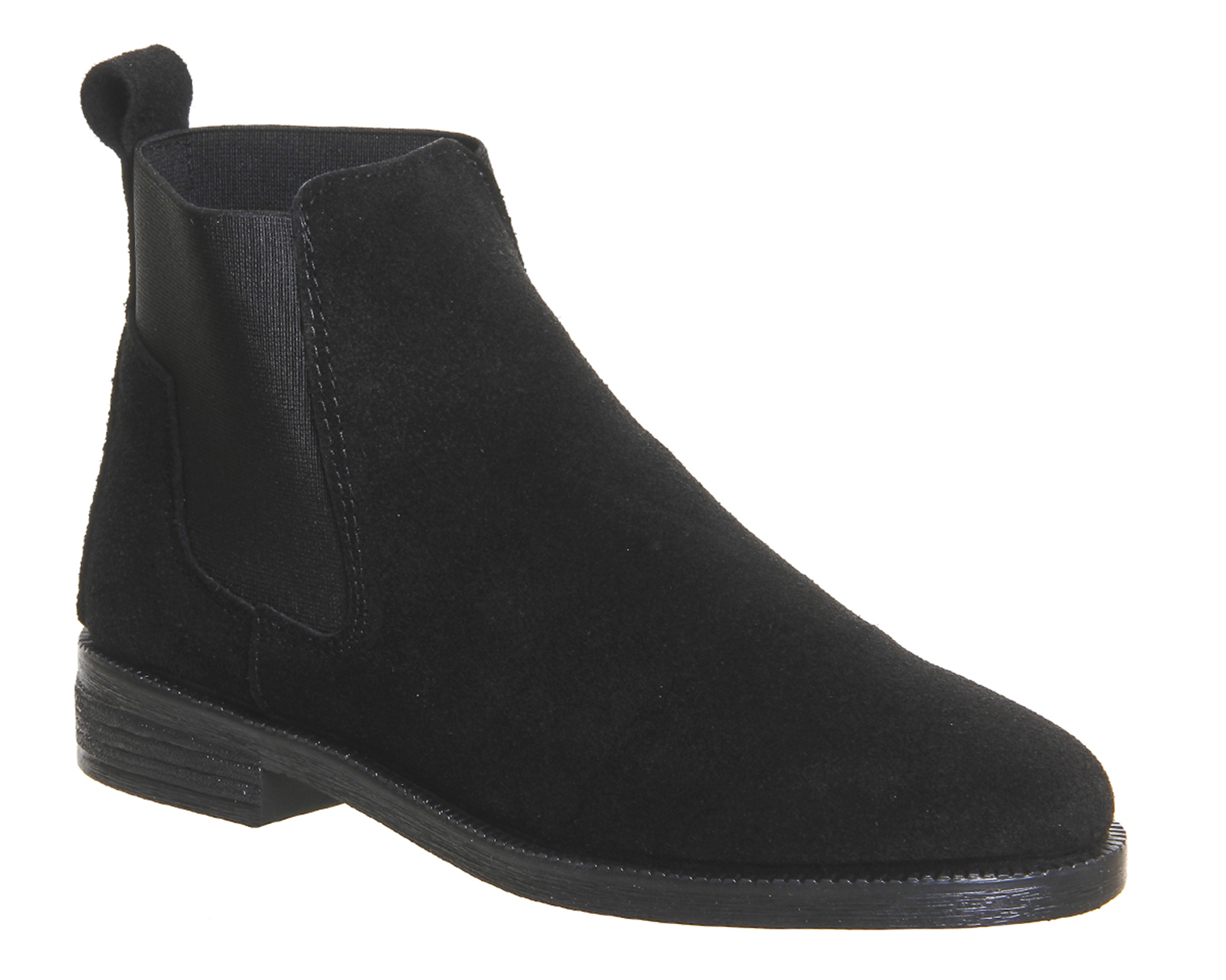 womens office jamie chelsea boots black suede boots *ex display