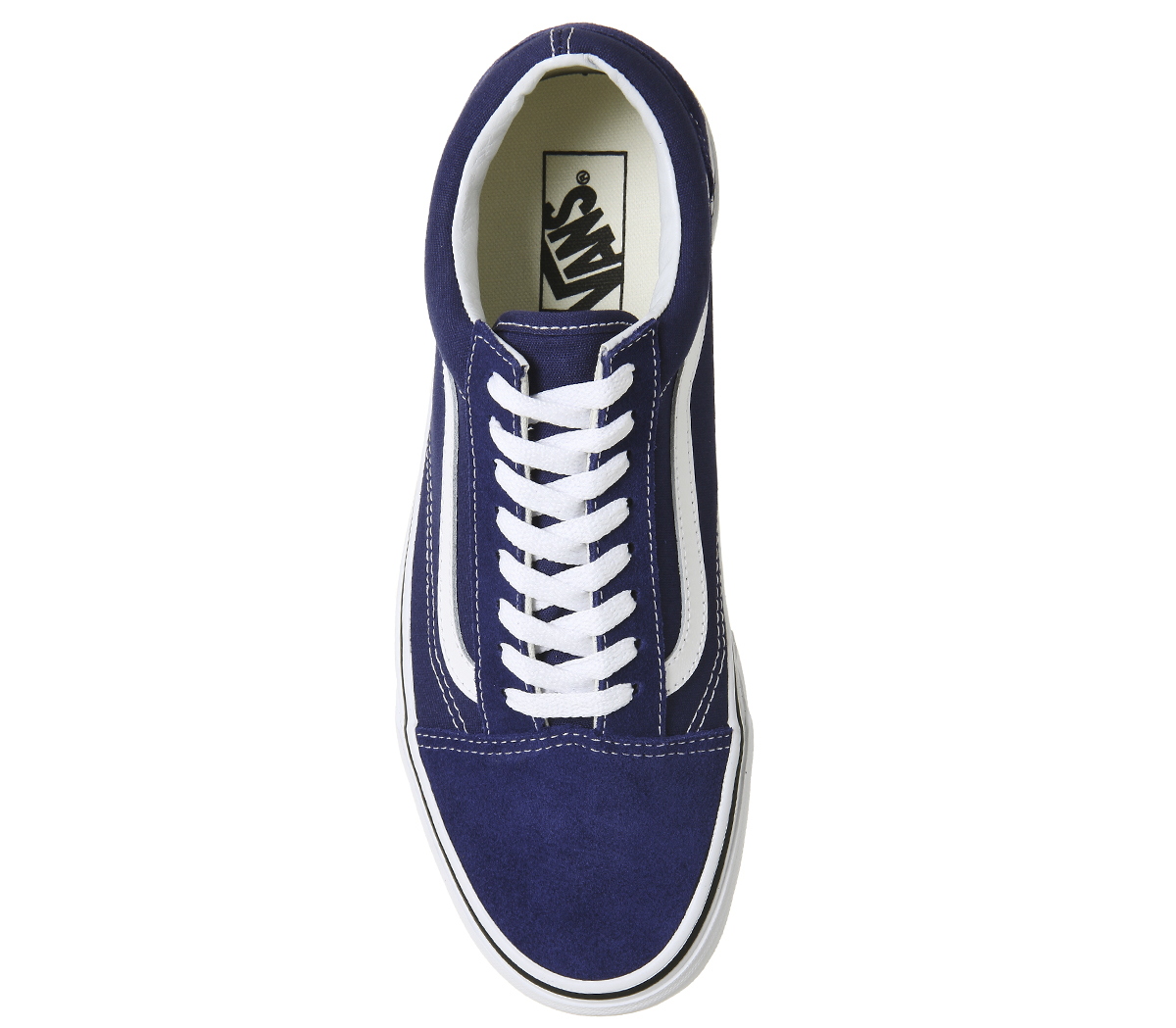 905a238c2 Sentinel Mens Vans Old Skool Trainers ESTATE BLUE TRUE WHITE Trainers Shoes