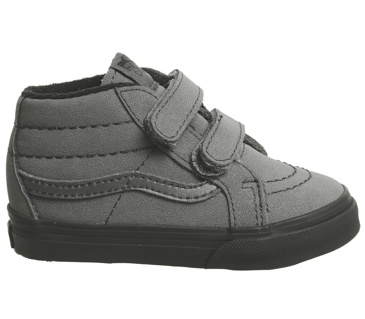 9532cc81745a Sentinel Kids Vans Sk8 Mid Reissue Toddler Trainers Vansbuck Forged Iron  Black Kids