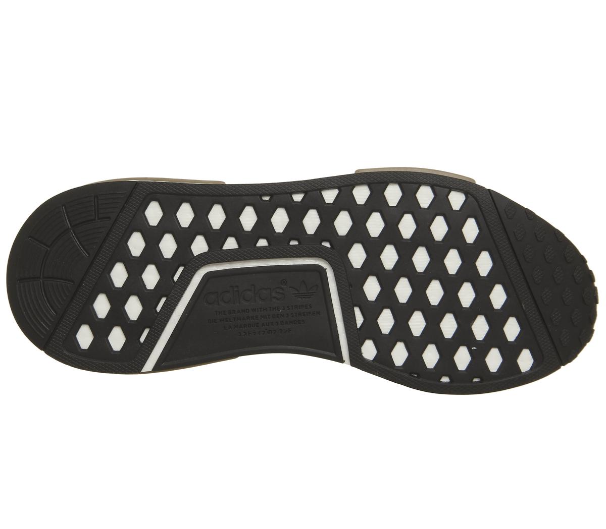 Adidas-Nmd-R1-Scarpe-da-ginnastica-Raw-cartone-d-039-oro-Scarpe-Da-Ginnastica-Bianco