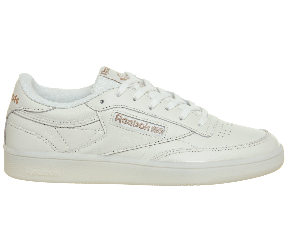 5e186c0c0d7 Sentinel Womens Reebok Club C 85 Trainers Chalk Rose Gold Exclusive Trainers  Shoes