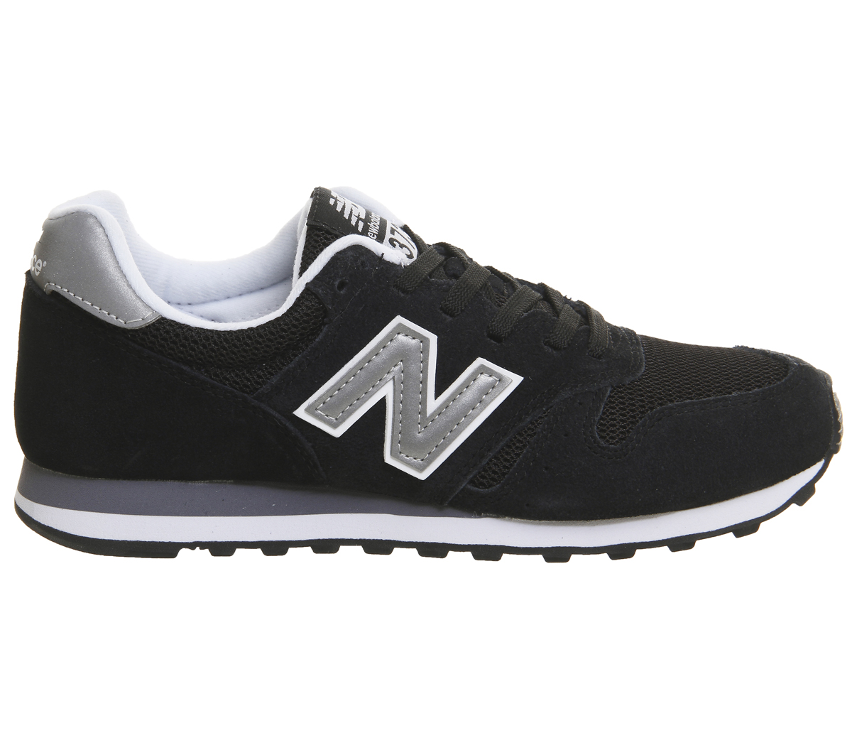 Mens New Balance 373 Trainers BLACK SILVER Trainers Schuhes