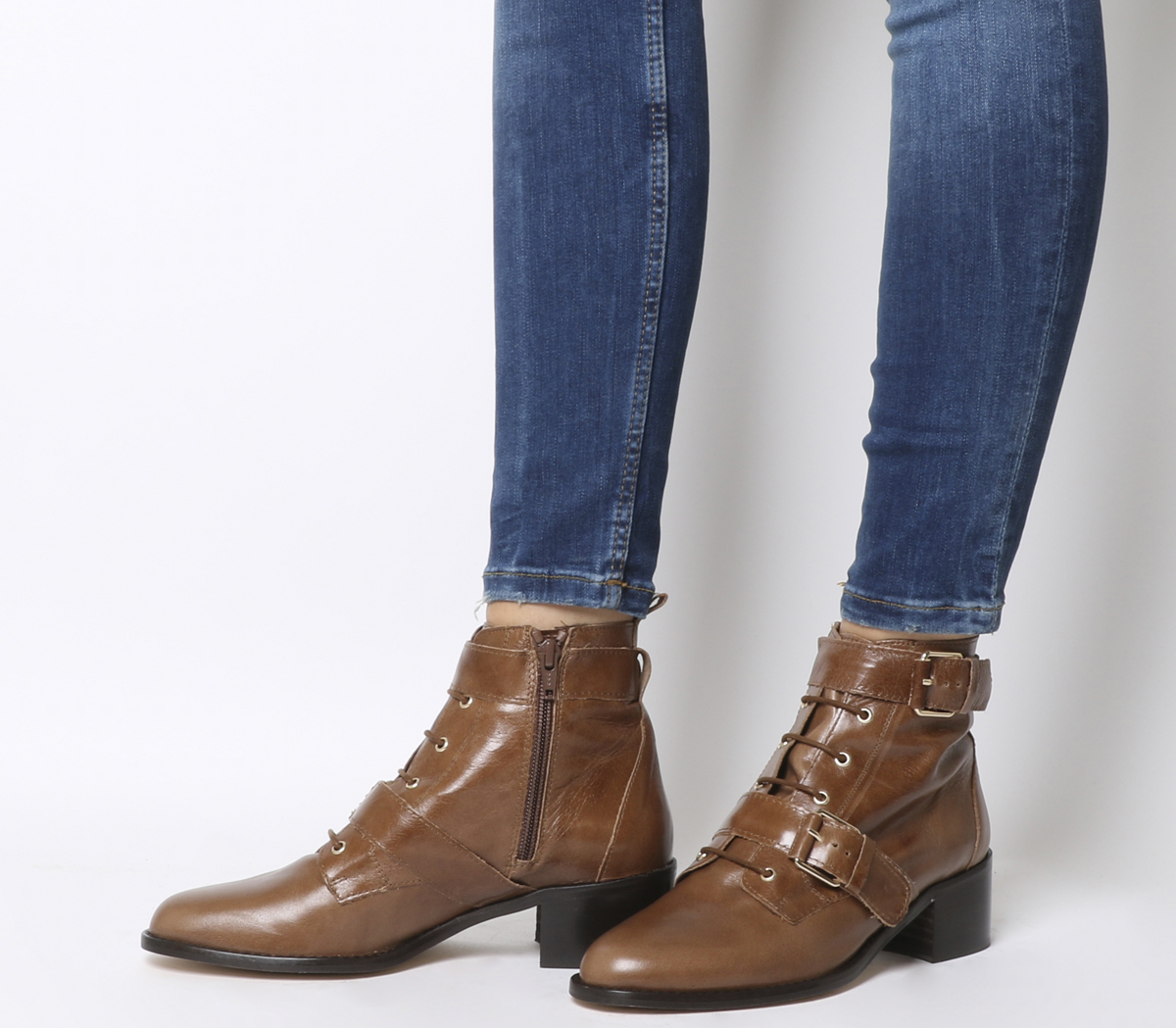 Dettagli su Donna Office Aspect Scarpe Casual con Lacci Stivali di pelle  Marrone Chiaro c0d007d21fb
