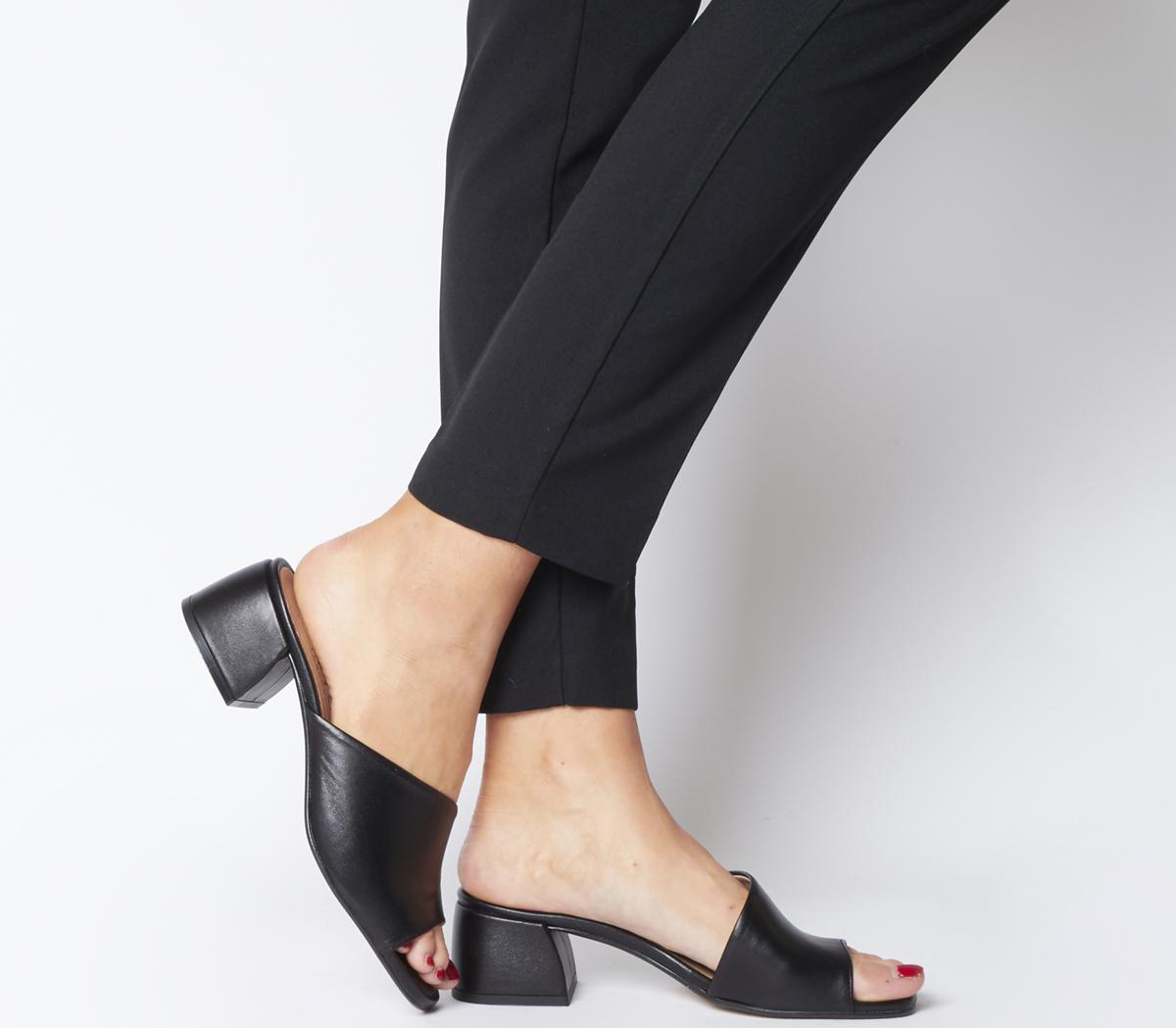 mules black heels hot 52856 952c8