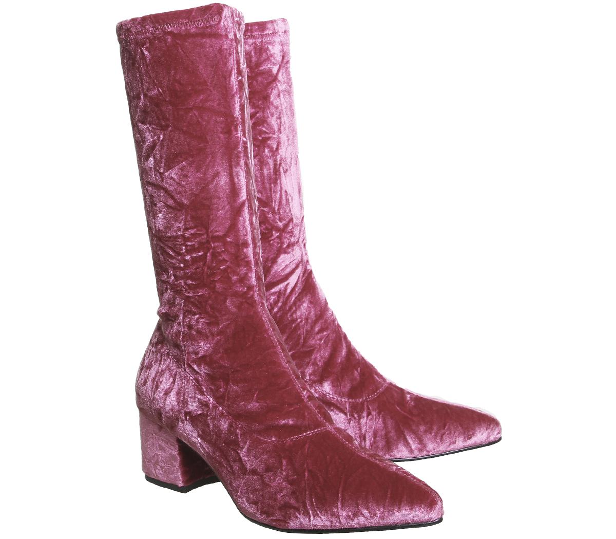 Damenschuhe Vagabond VELVET Mya Tall Stiefel PINK VELVET Vagabond Stiefel be76e9