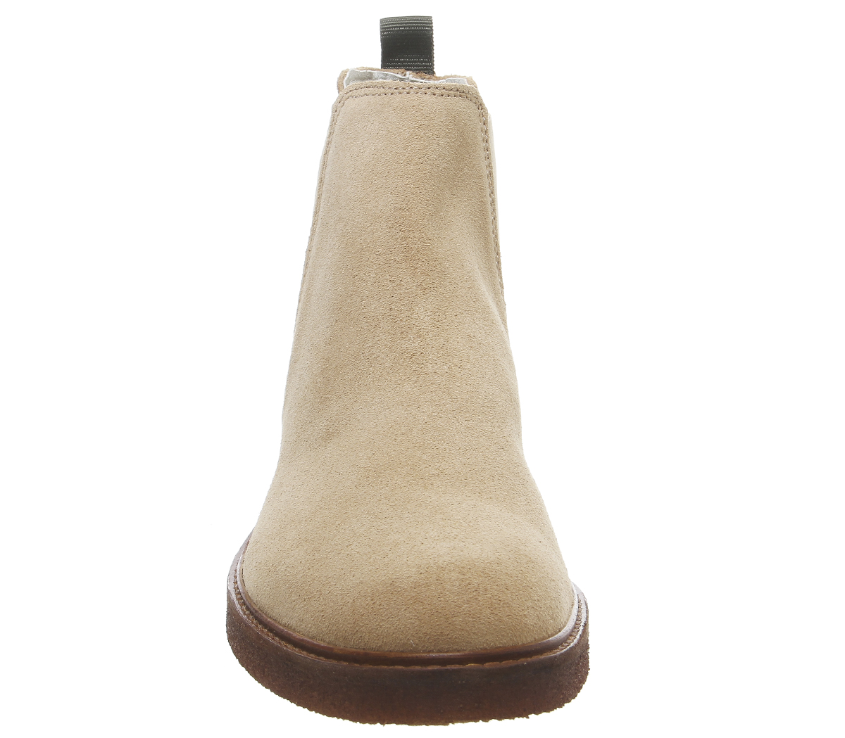 Mens-Office-Locked-Chelsea-Boots-Beige-Suede-Boots thumbnail 5
