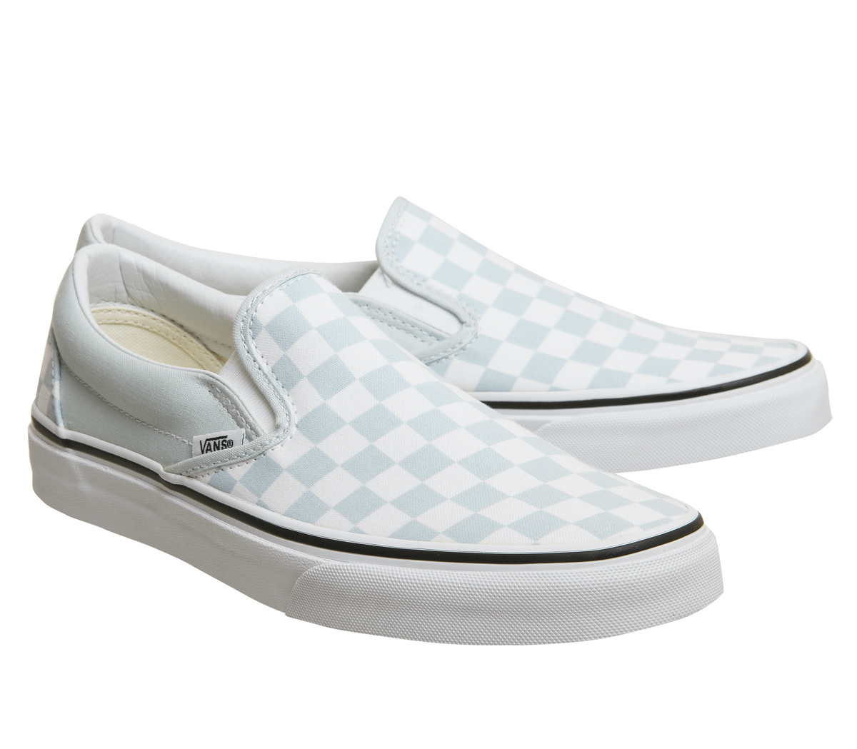 vans classic slip on trainers in checkerboard