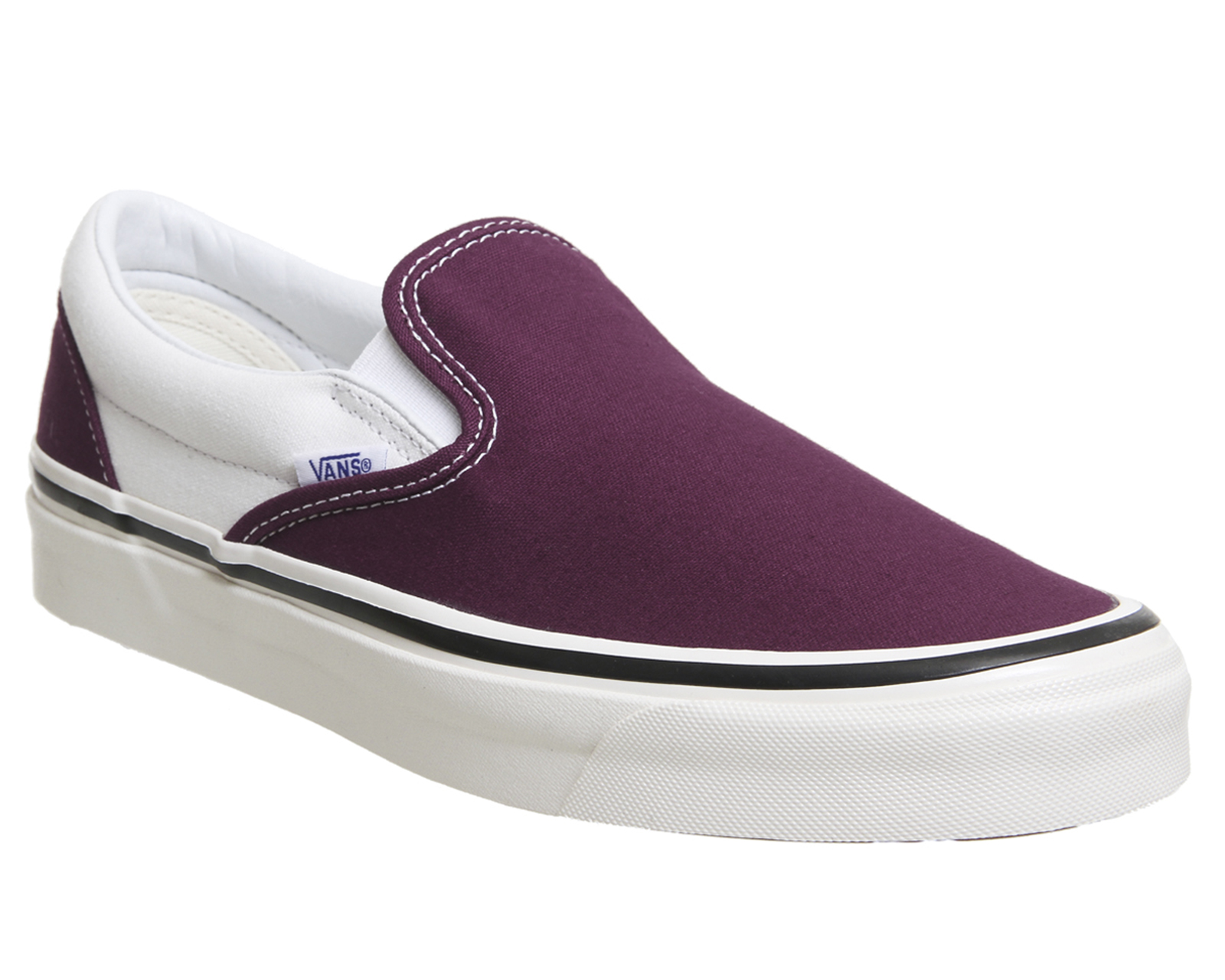 Sentinel Vans Classic Slip On 98 Dx Trainers Og Burgundy White Trainers  Shoes d1460ef64