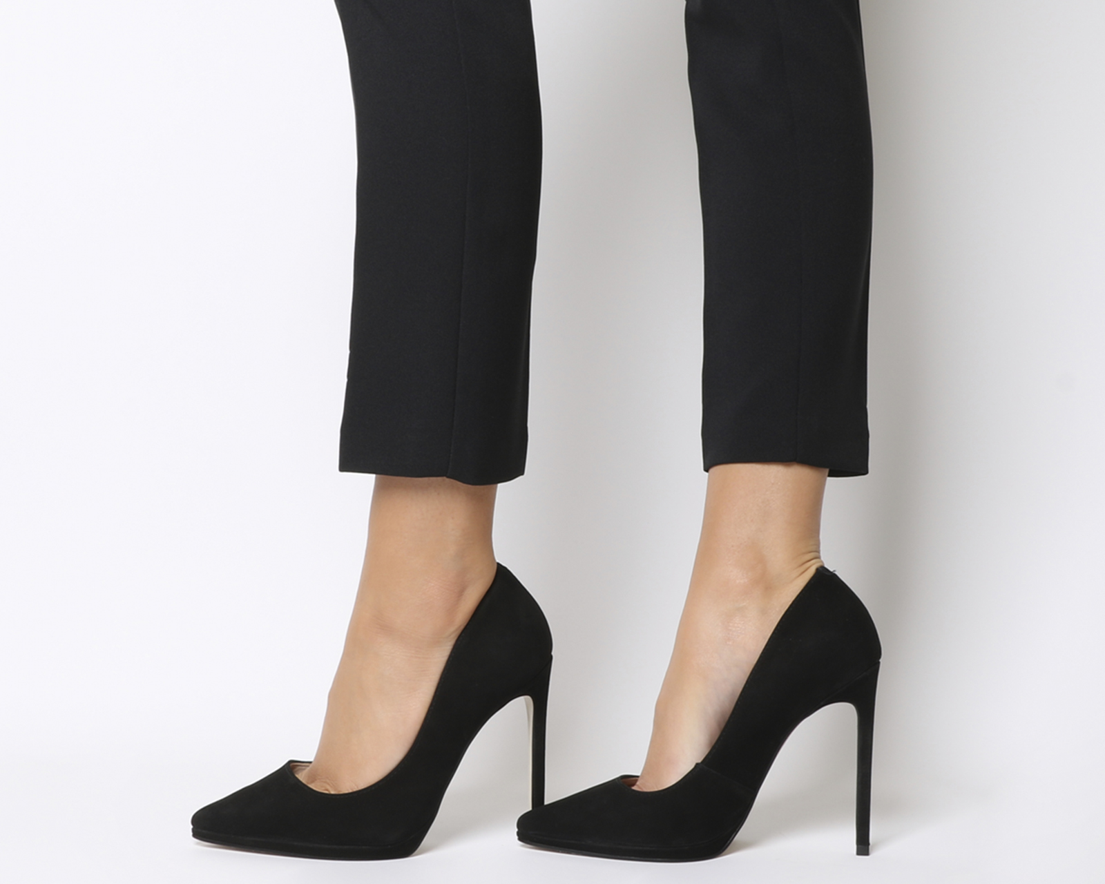 Damenschuhe Office Hi-ya Pointed Platform Stiletto NUBUCK Heels BLACK NUBUCK Stiletto Heels 4443f1