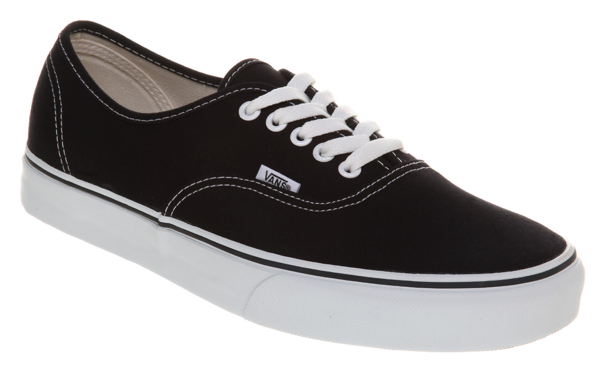mens vans shoes black and white