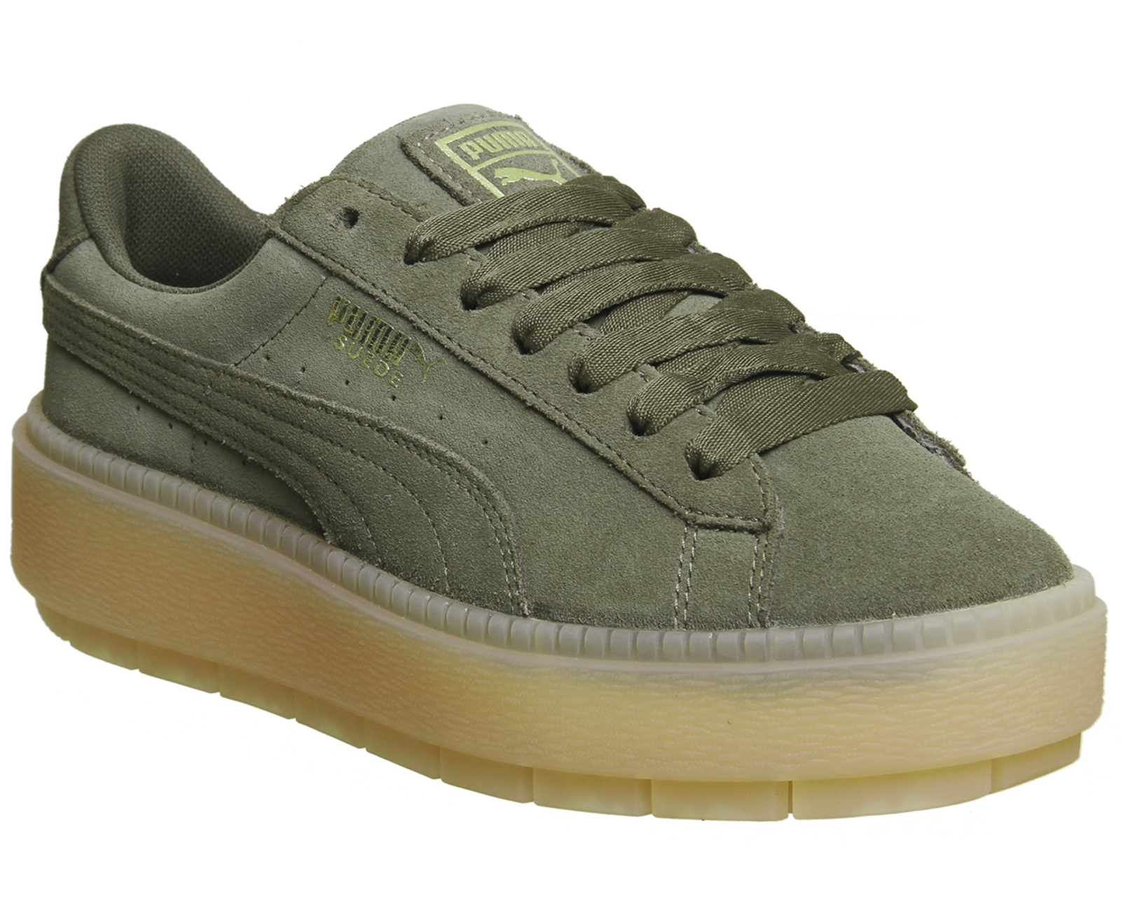 cd44ec90dfb0 Sentinel Womens Puma Suede Platform Trace Trainers OLIVE NIGHT VELVET ROPE  Trainers Shoes