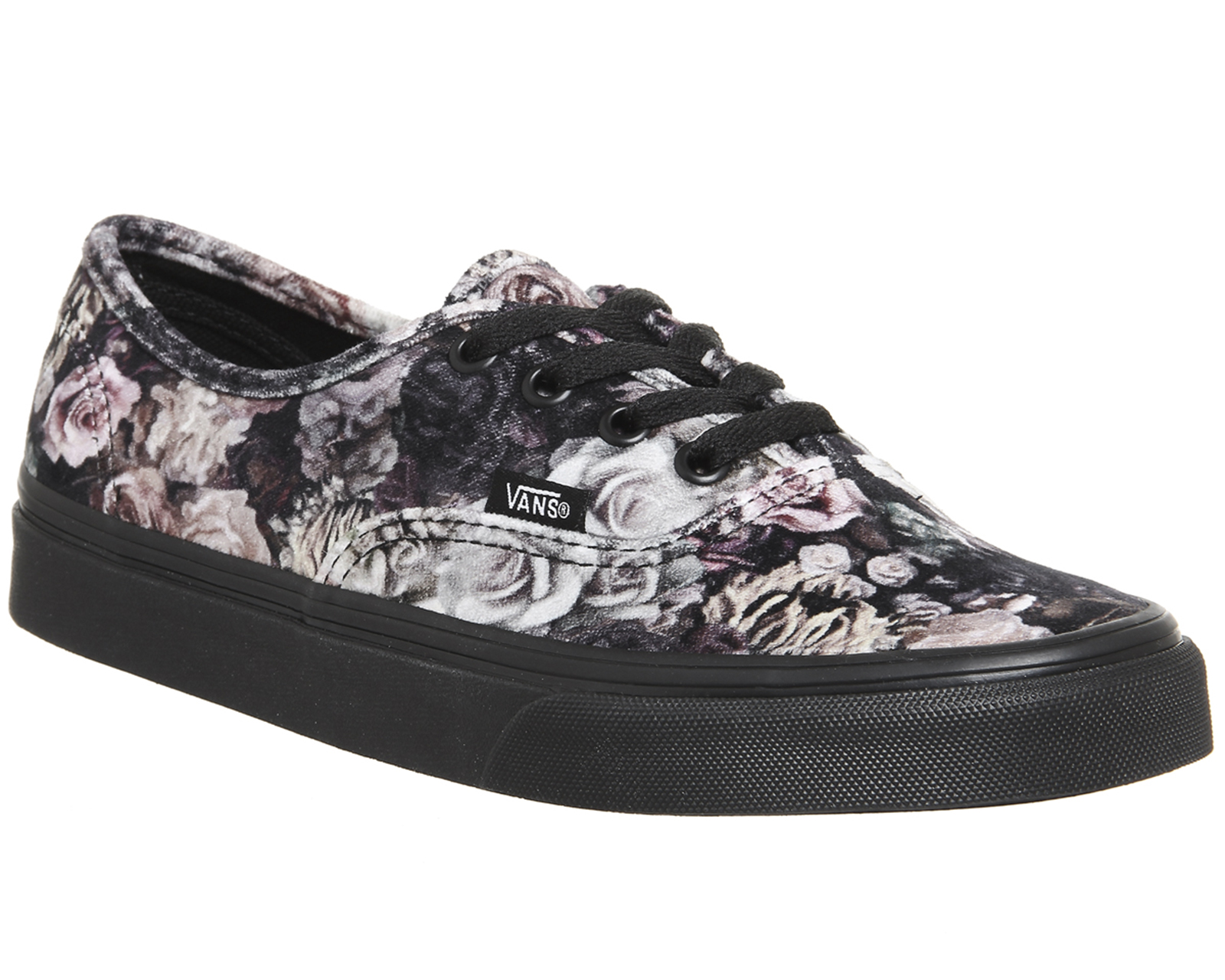 69e41c35bb5 Sentinel Womens Vans Authentic Trainers VELVET FLORAL BLACK Trainers Shoes