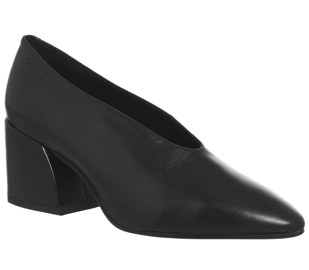 Womens Block Vagabond Olivia Block Womens Heels BLACK LEATHER Heels 7f02b7