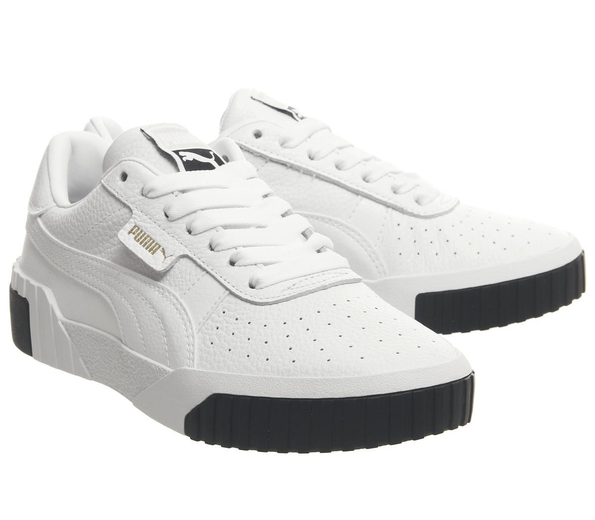 0eb81894b Zapatillas Para Mujer Puma Cali Puma Blanco Negro Zapatillas Zapatos ...
