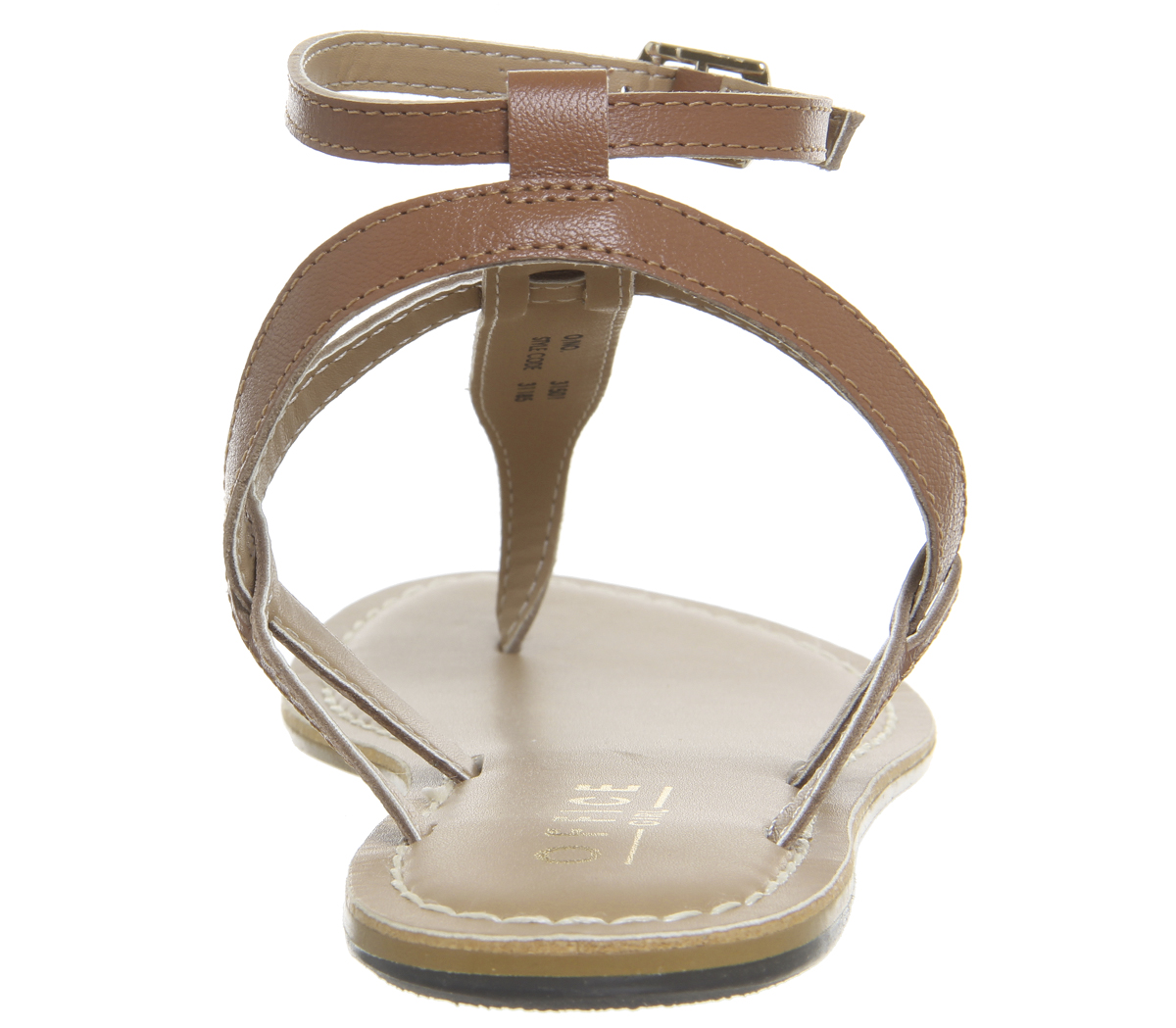 ae9daa7e1aa Sentinel Womens Office Salsa Ankle Strap Toe Post Sandals Tan Leather  Sandals