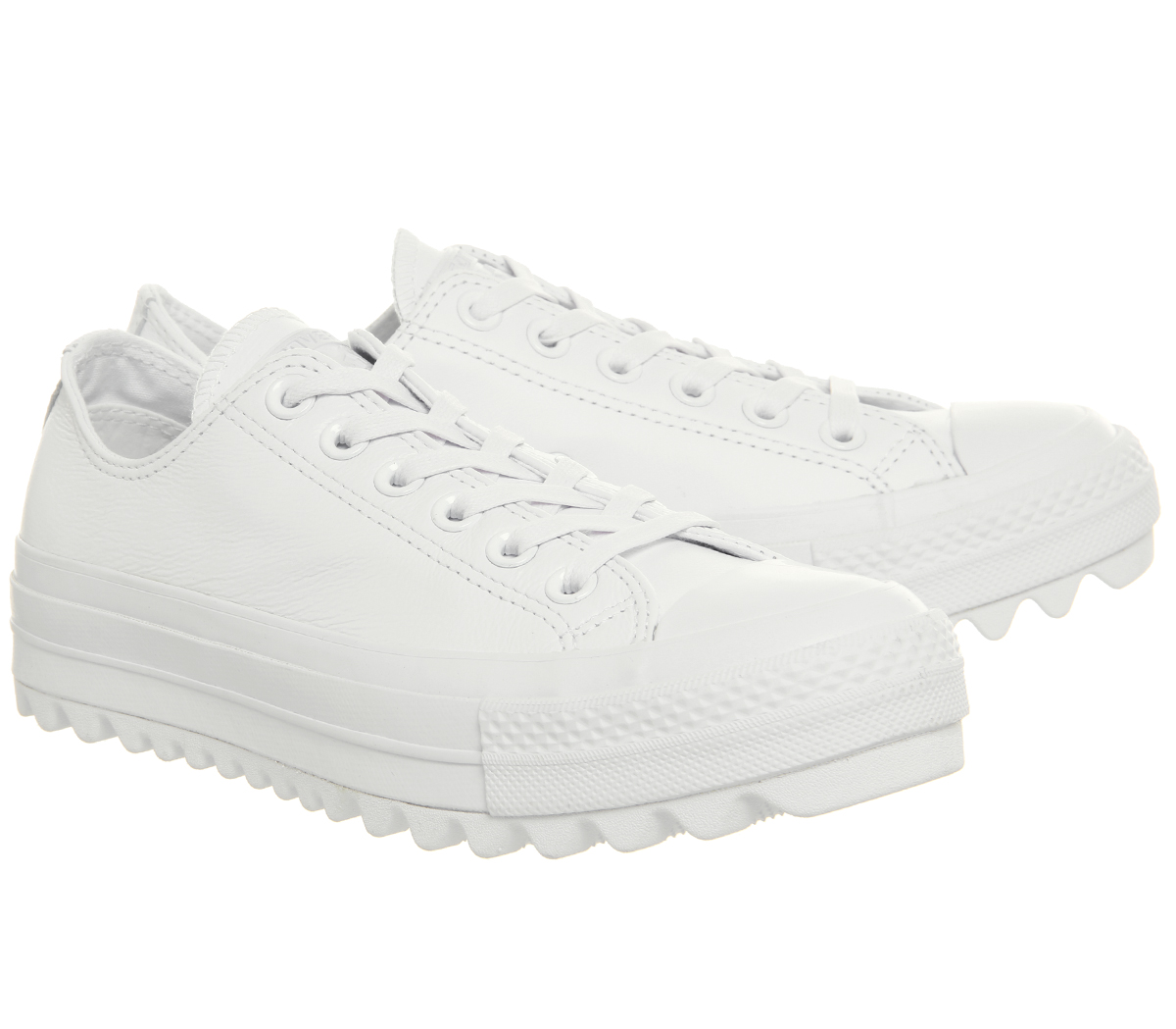 edf346556a75 Womens Converse Chuck Taylor All Star Lift Ripple Ox White Mono ...