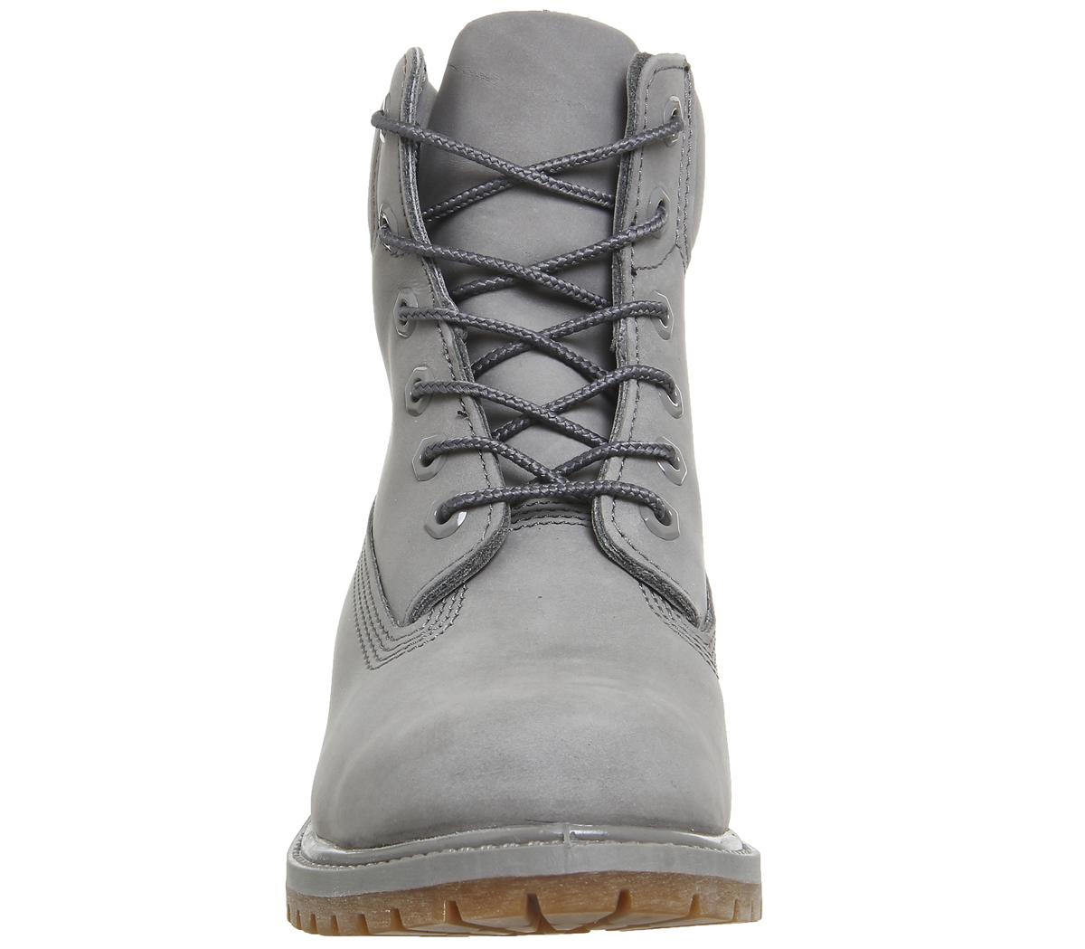 damen timberland premium 6 boots grau steeple grau mono stiefel ebay. Black Bedroom Furniture Sets. Home Design Ideas