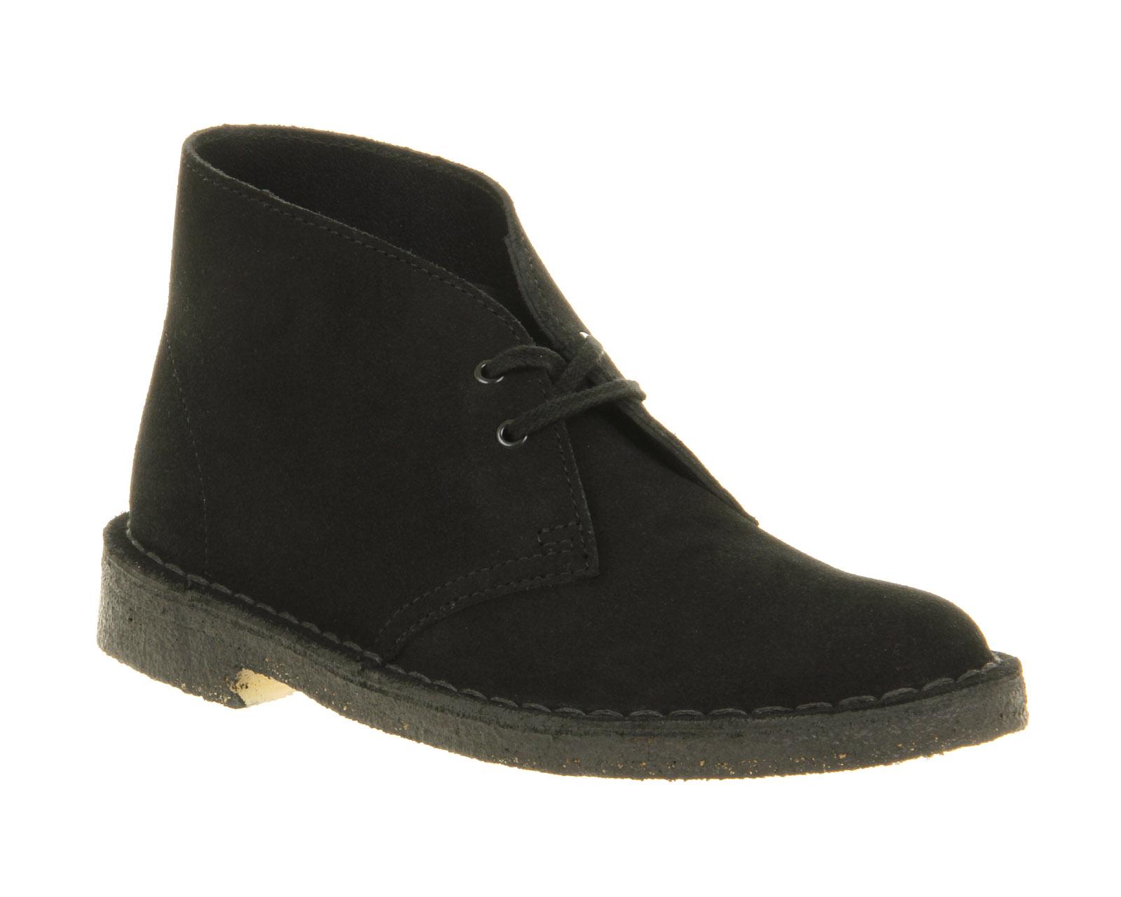 Clarks Daim Desert Boots En Noir - Noir 7wNHYse