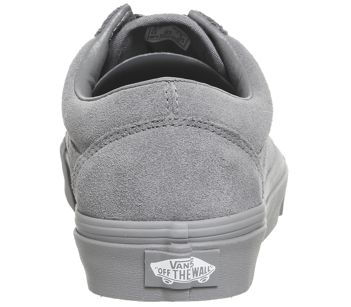 Mens Vans Old Skool Trainers FROST GREY SUEDE EXCLUSIVE Trainers ... f6929edd61e5