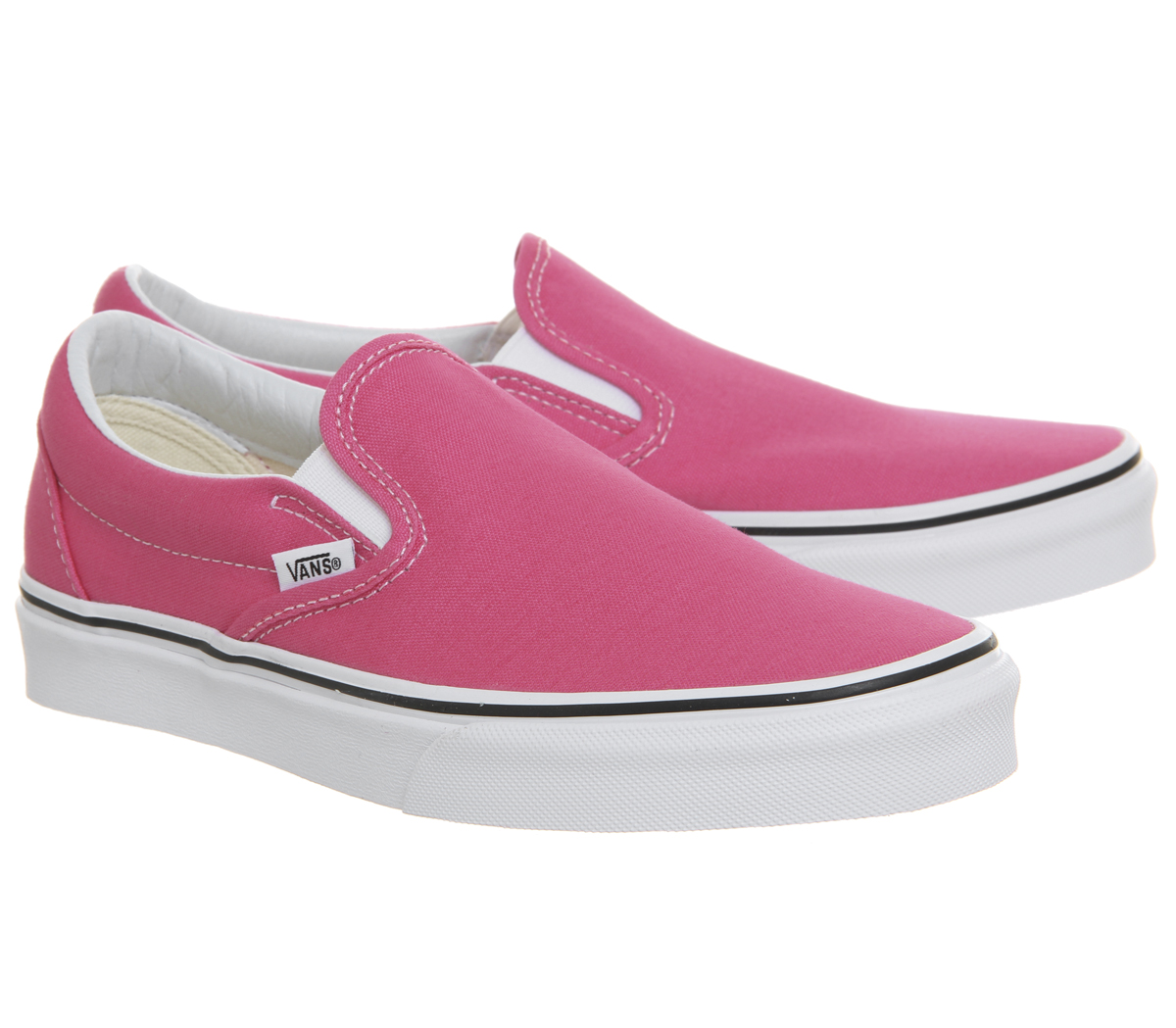 d4f1bbc544756c Sentinel Womens Vans Vans Classic Slip On Trainers Hot Pink True White  Trainers Shoes