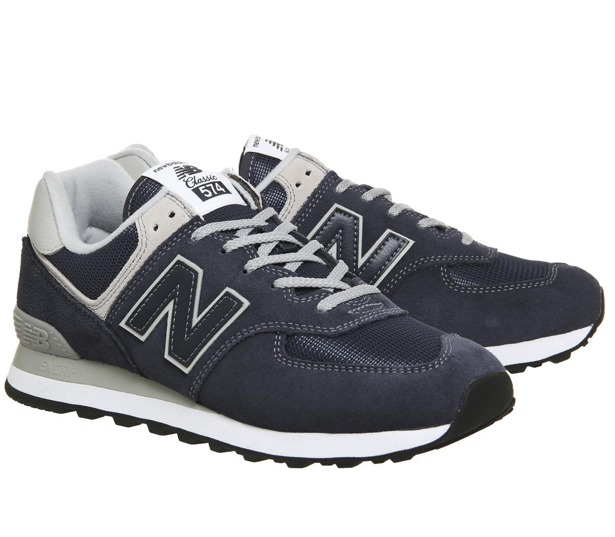 ba986746aa Zapatillas-para-hombre-574-New-Azul-Marino-Zapatillas-